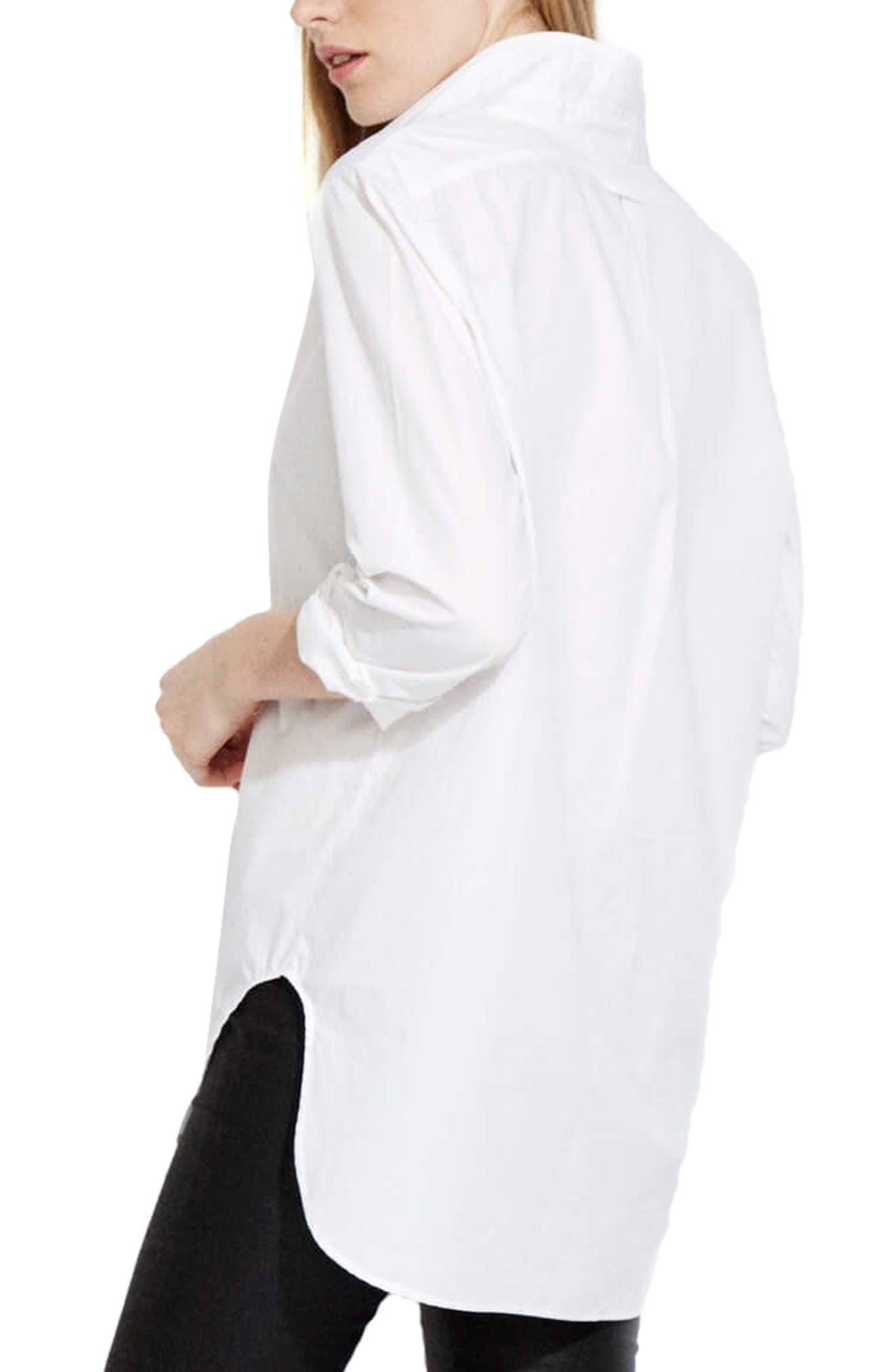 The Easy Shirt,                             Alternate thumbnail 2, color,                             White Poplin
