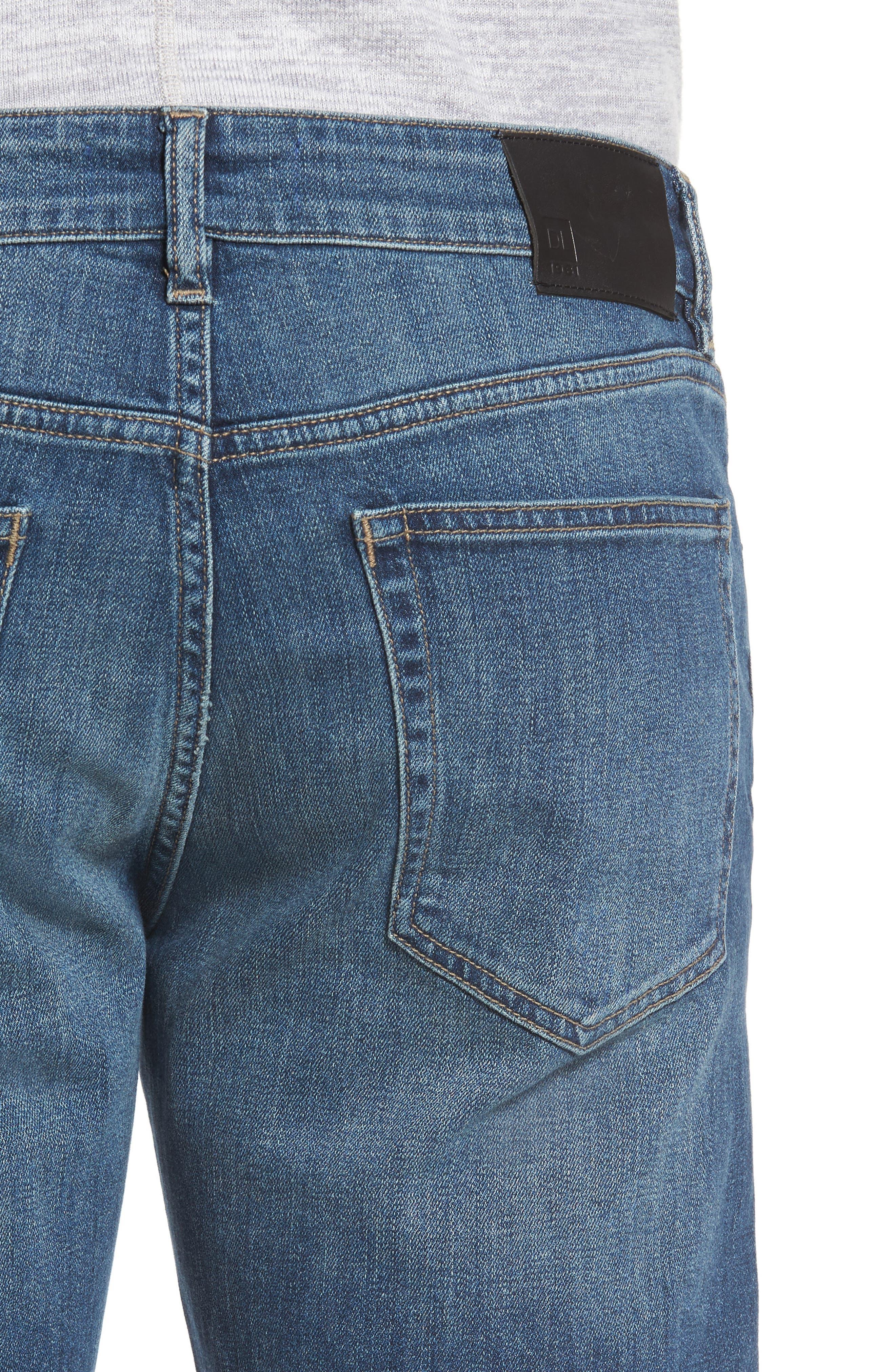Avery Slim Straight Leg Jeans,                             Alternate thumbnail 4, color,                             Epoxy
