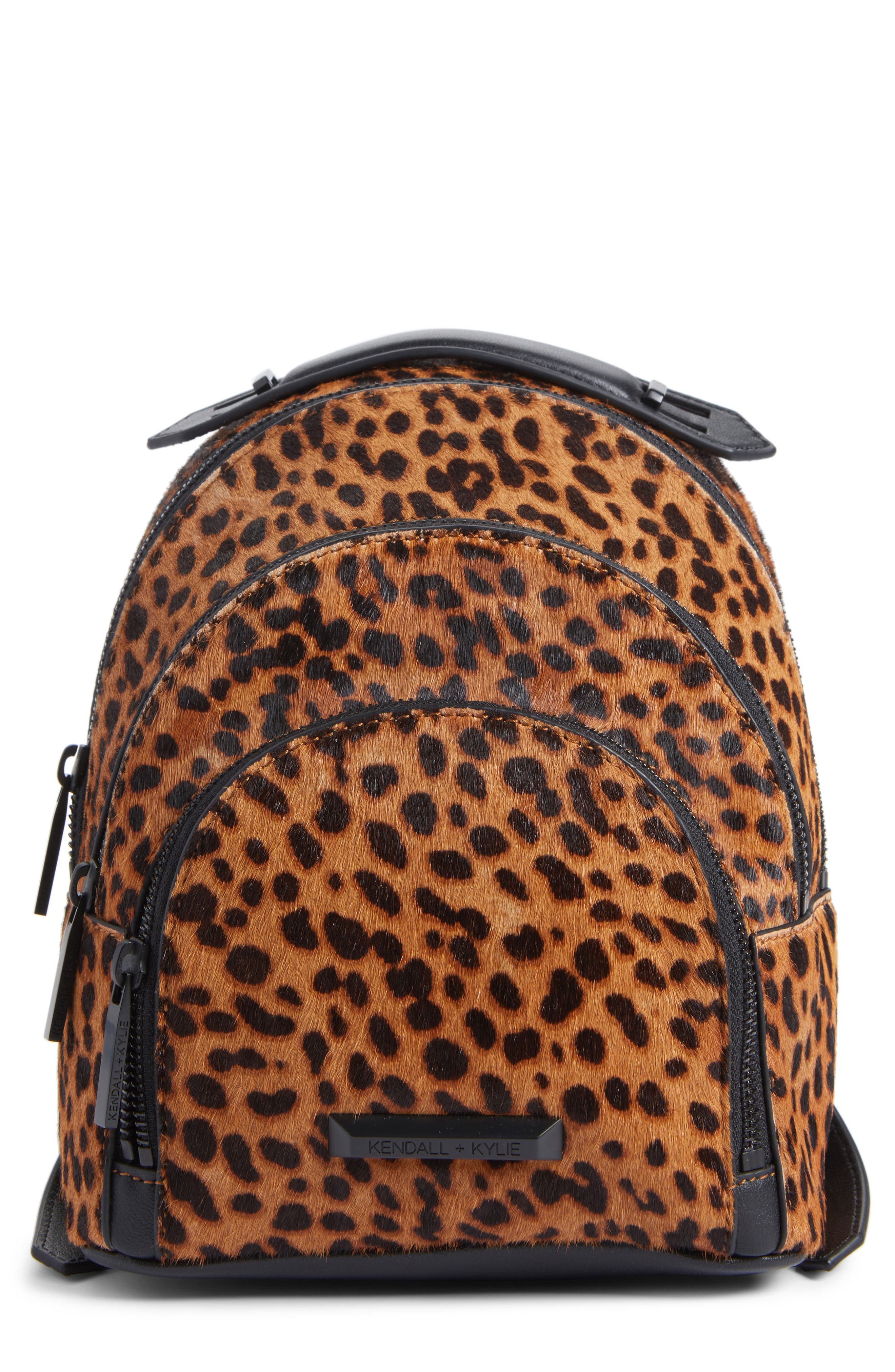 KENDALL + KYLIE Mini Sloane Genuine Calf Hair & Leather Backpack