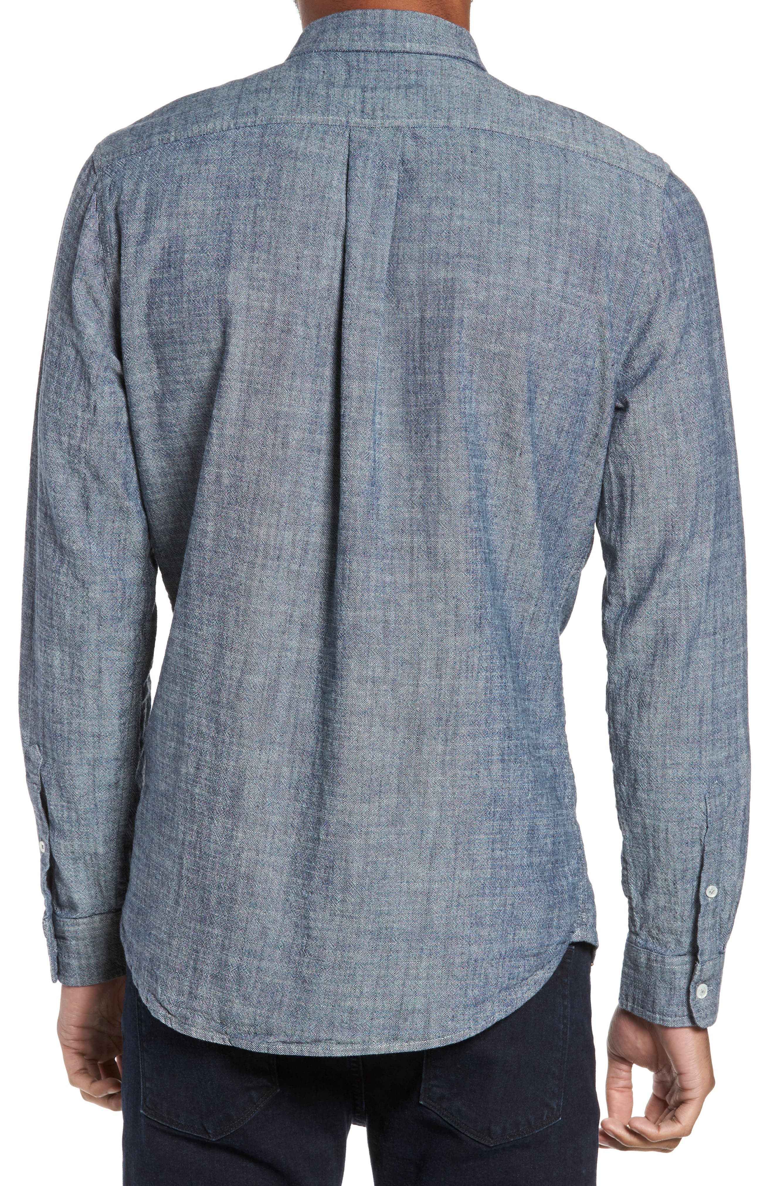 Regular Fit Chambray Sport Shirt,                             Alternate thumbnail 2, color,                             Chambray