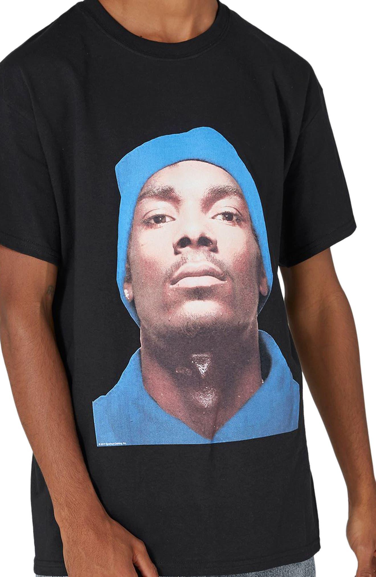Snoop Dogg T-Shirt,                             Alternate thumbnail 3, color,                             Black Multi