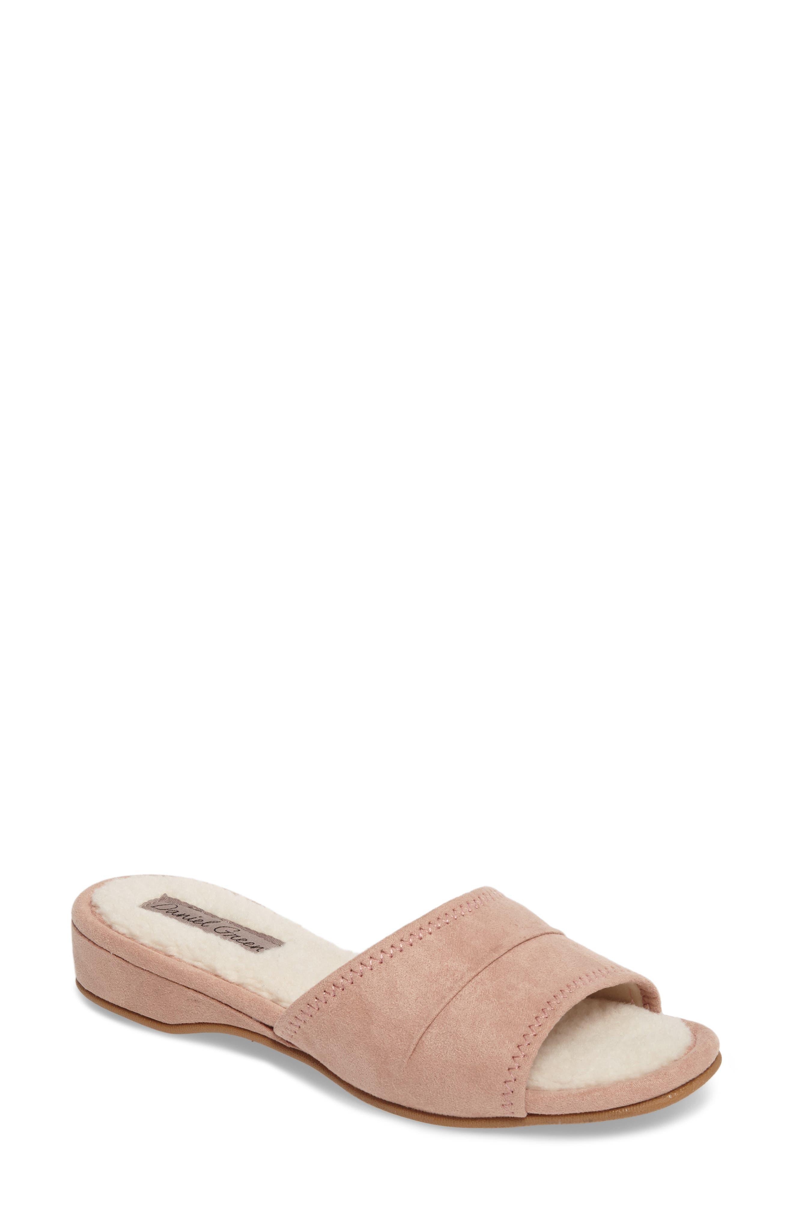 'Dormie' Slipper,                         Main,                         color, Rose Suede