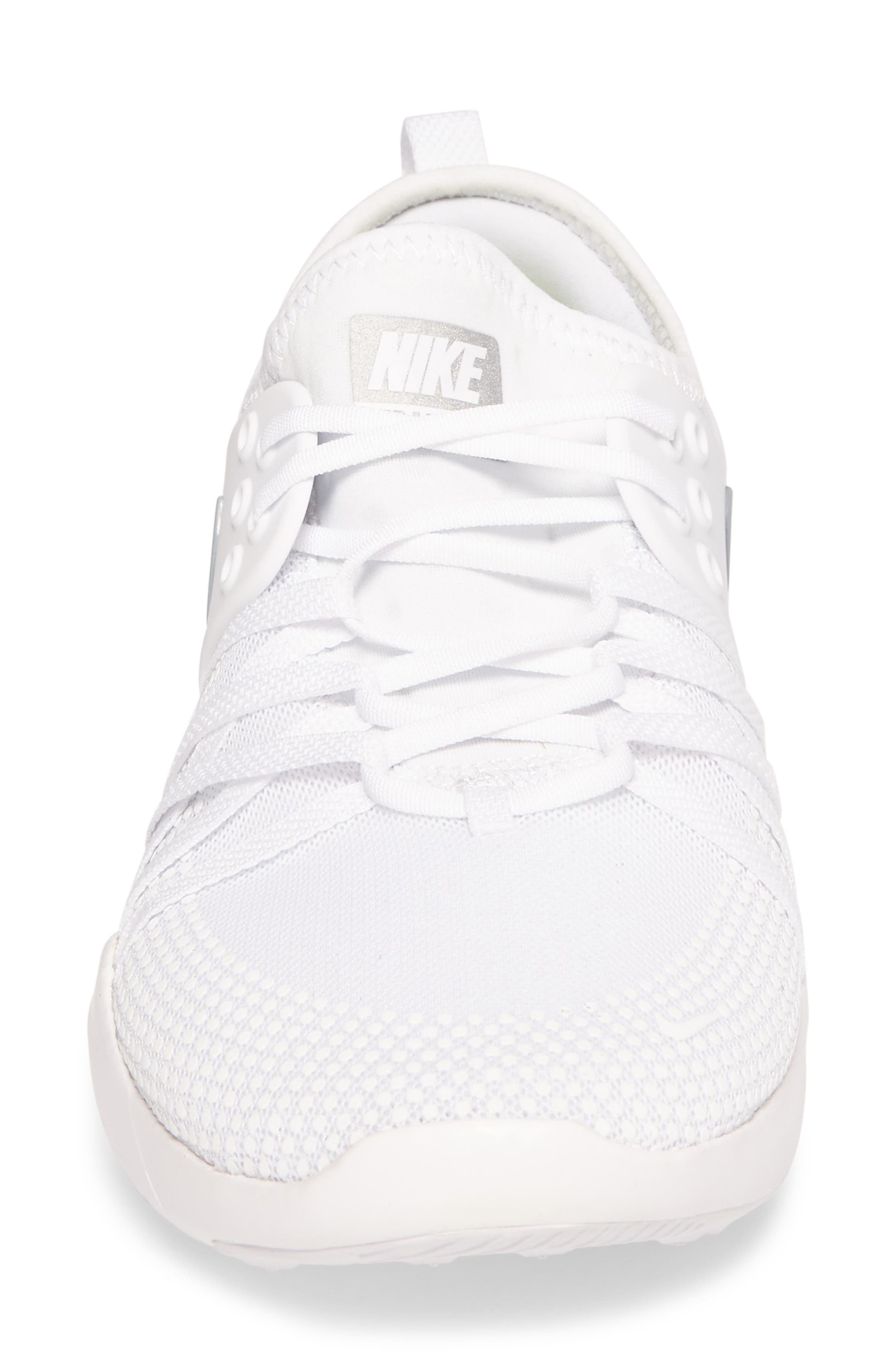 Free TR 7 Training Shoe,                             Alternate thumbnail 4, color,                             White/ Metallic Silver