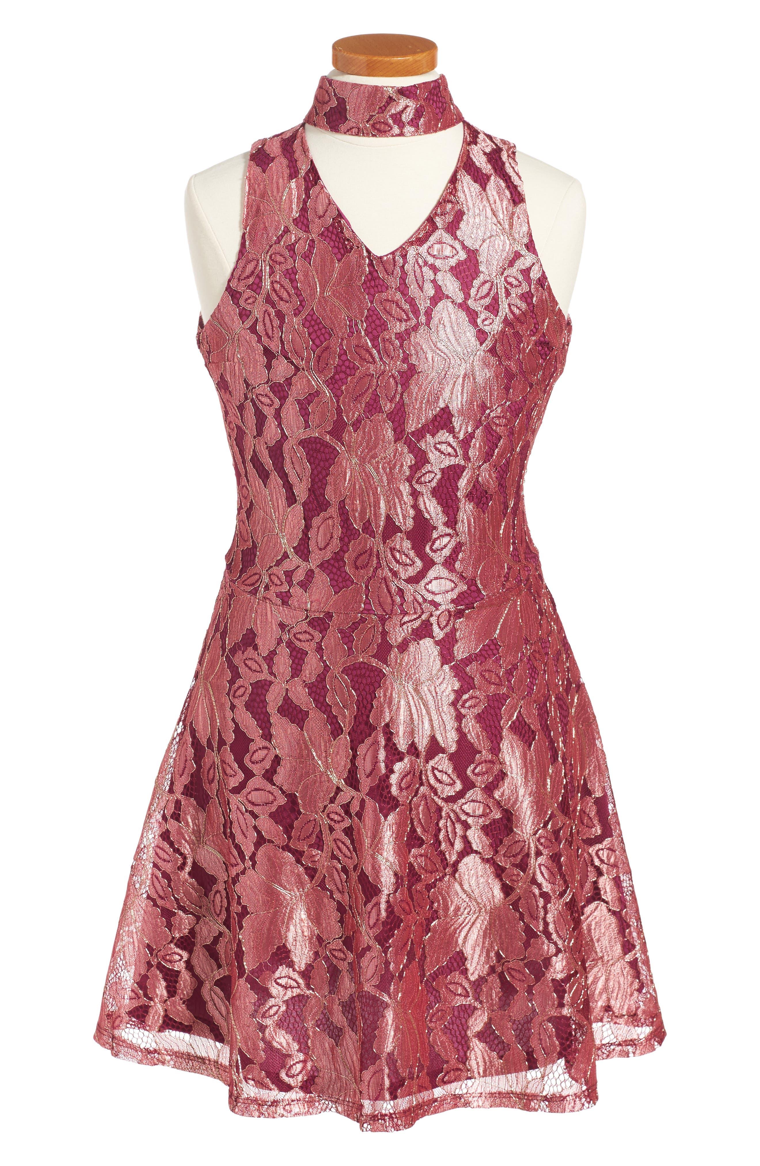 Alternate Image 1 Selected - Penelope Tree Ariana Lace Dress (Big Girls)