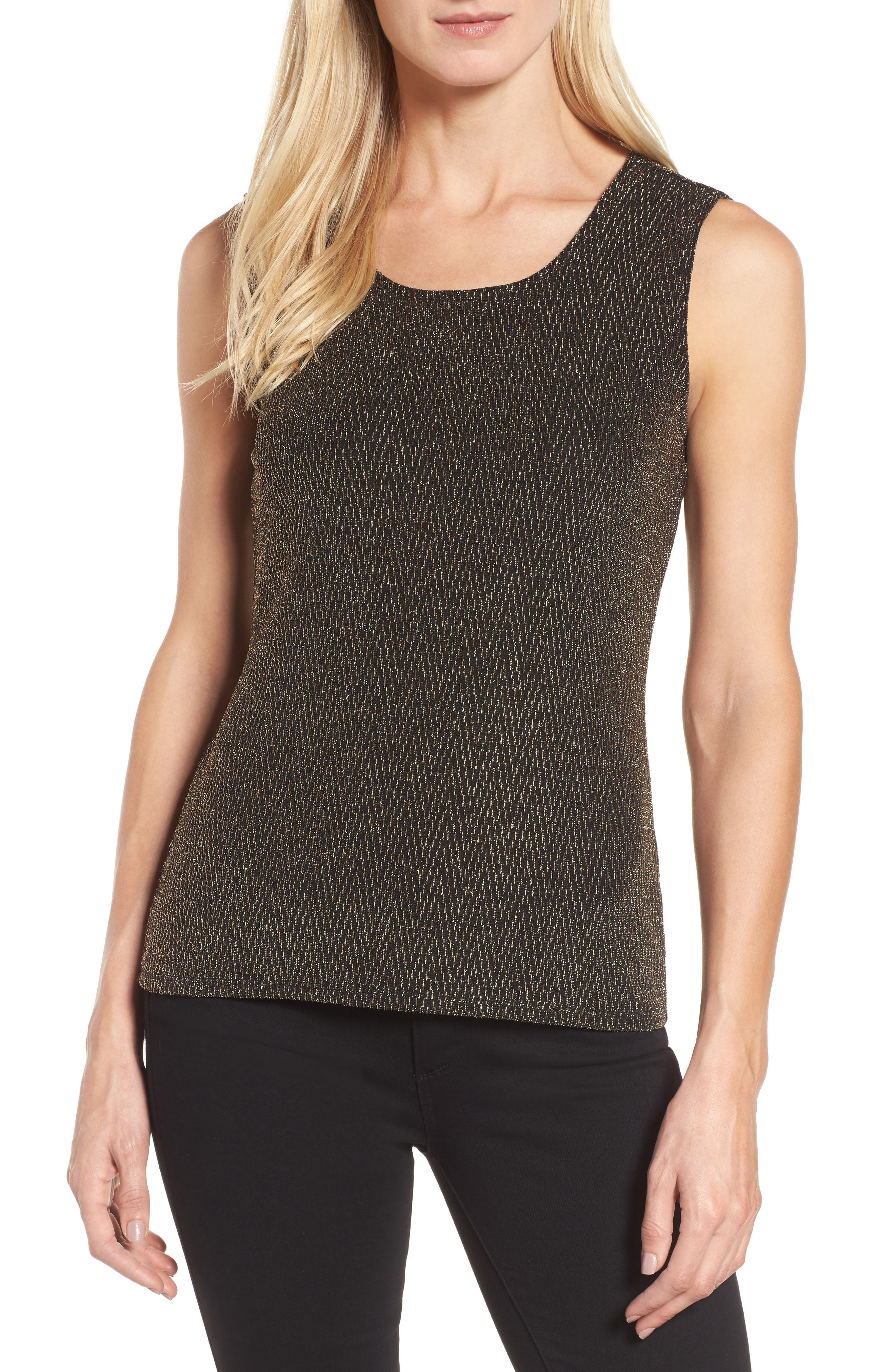 Alternate Image 1 Selected - Chaus Metallic Tank Top