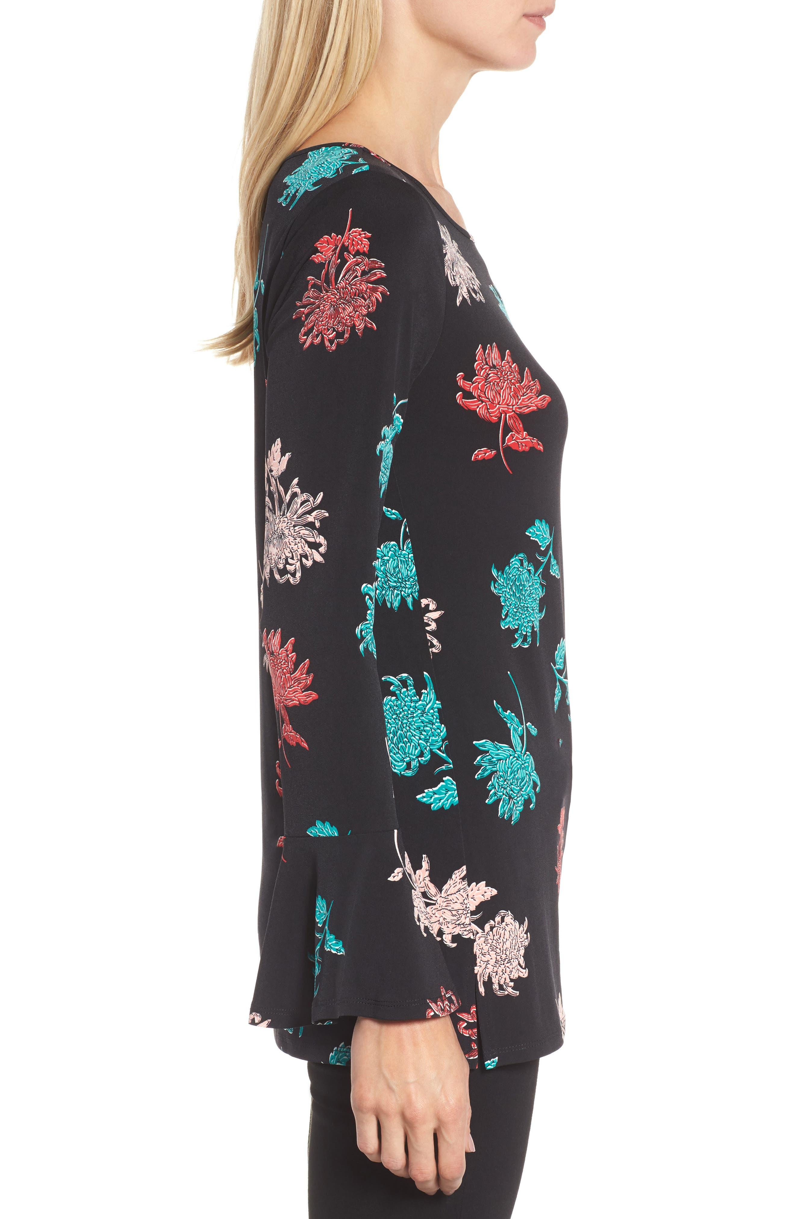 Alternate Image 3  - Chaus Bell Sleeve Imperial Bloom Top