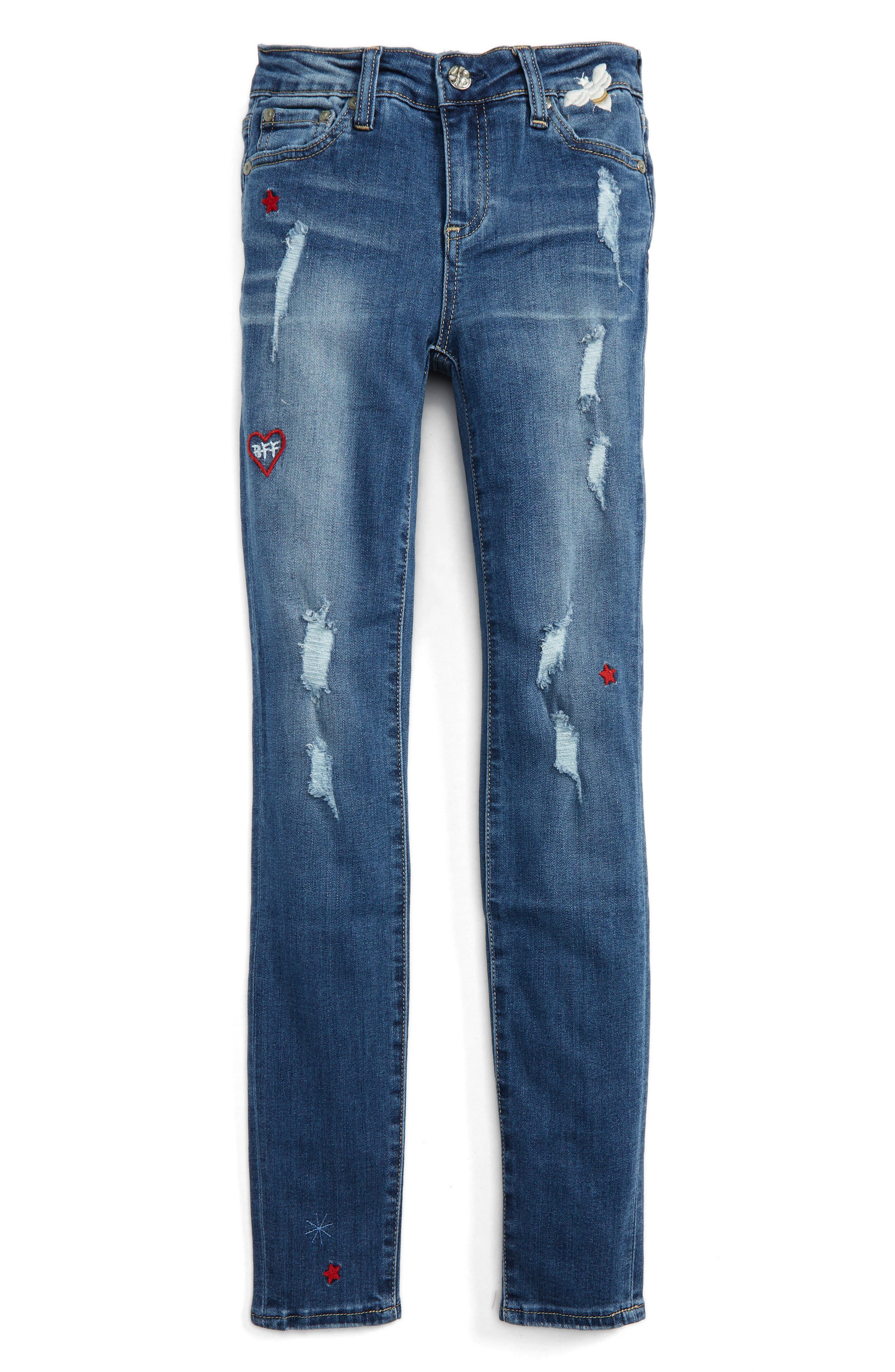 Main Image - ag adriano goldschmied kids The Ella Super Skinny Jeans (Big Girls)