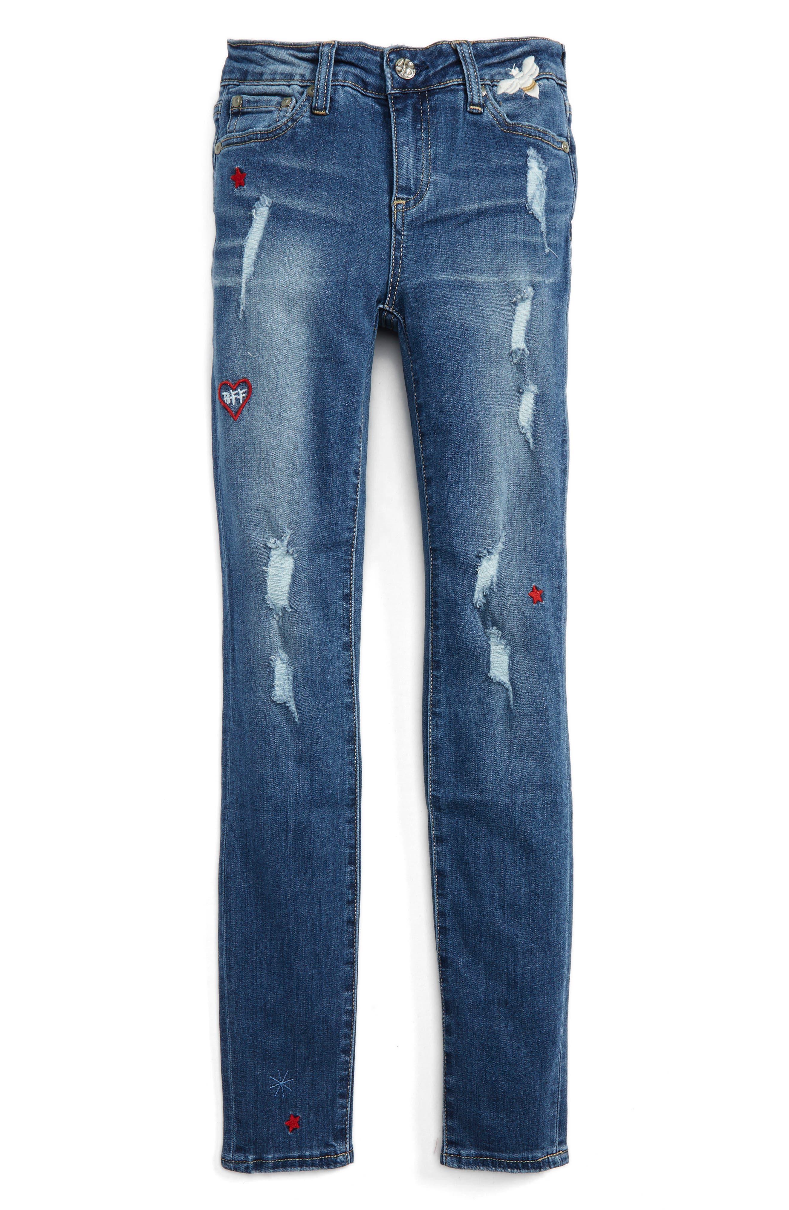 The Ella Super Skinny Jeans,                         Main,                         color, Blue Bell