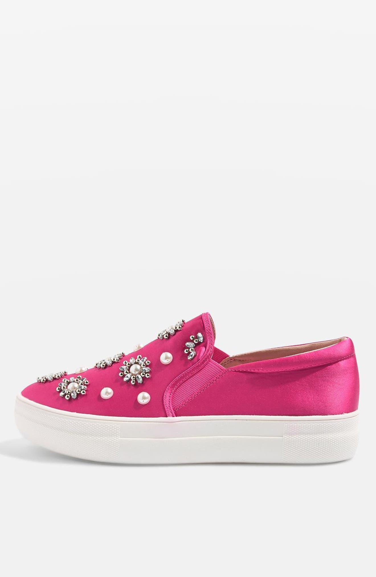 Tilt Embellished Slip-On Sneaker,                             Alternate thumbnail 10, color,                             Pink Multi