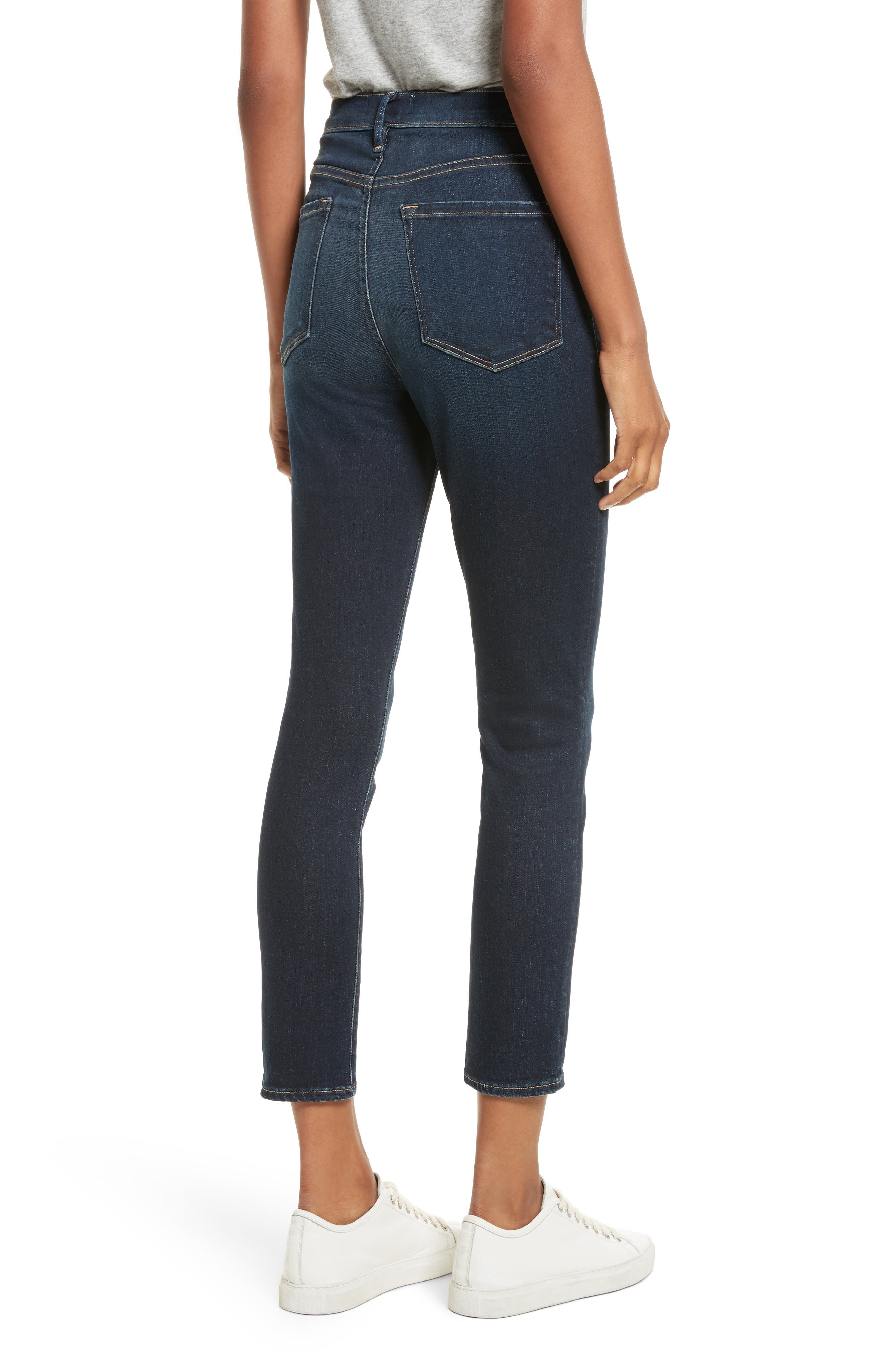 Ali High Waist Ankle Skinny Jeans,                             Alternate thumbnail 2, color,                             Cabana Exclusive