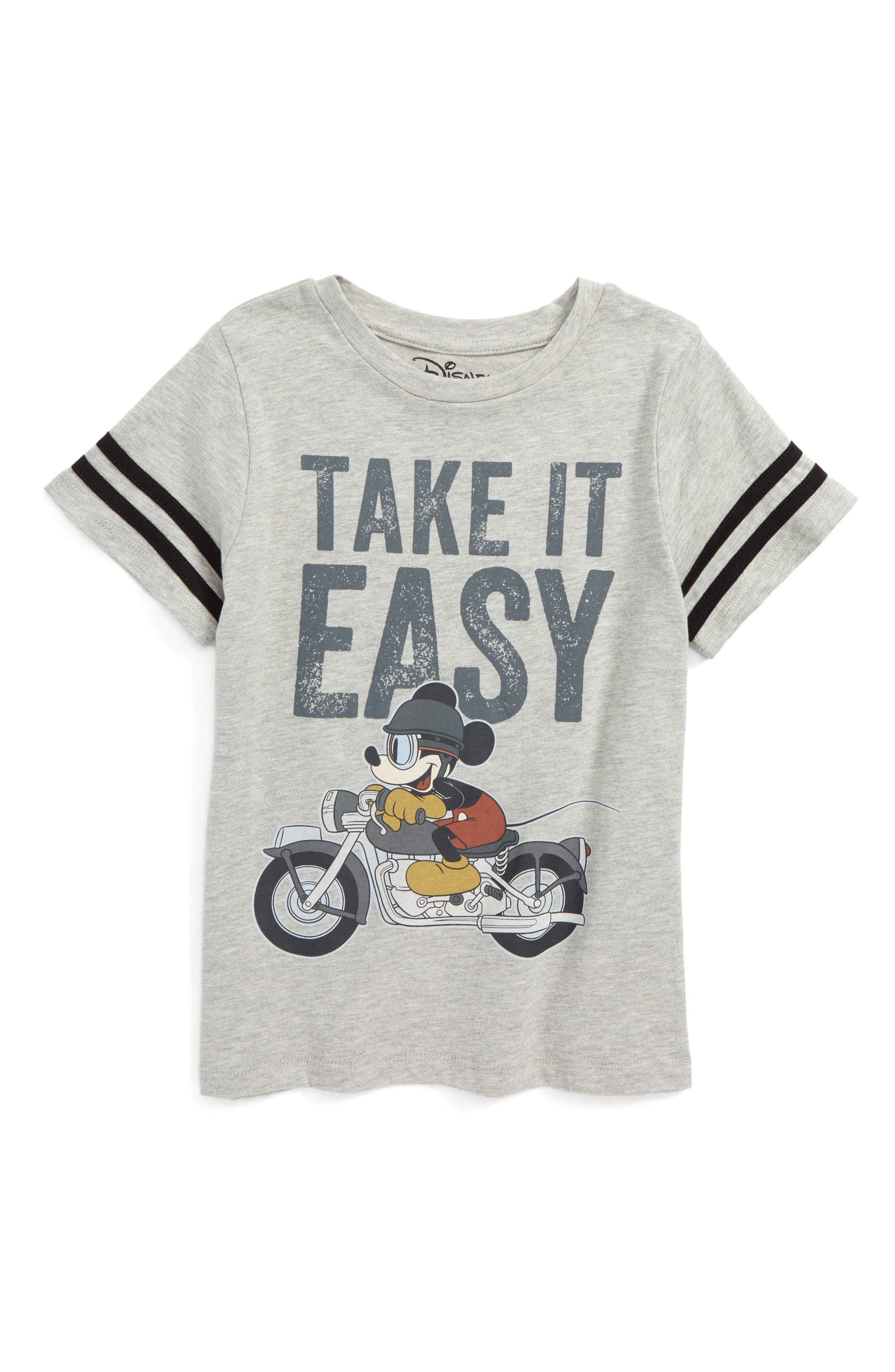 Mighty Fine x Disney® Mickey Mouse® Motorcycle T-Shirt (Toddler Boys & Little Boys)