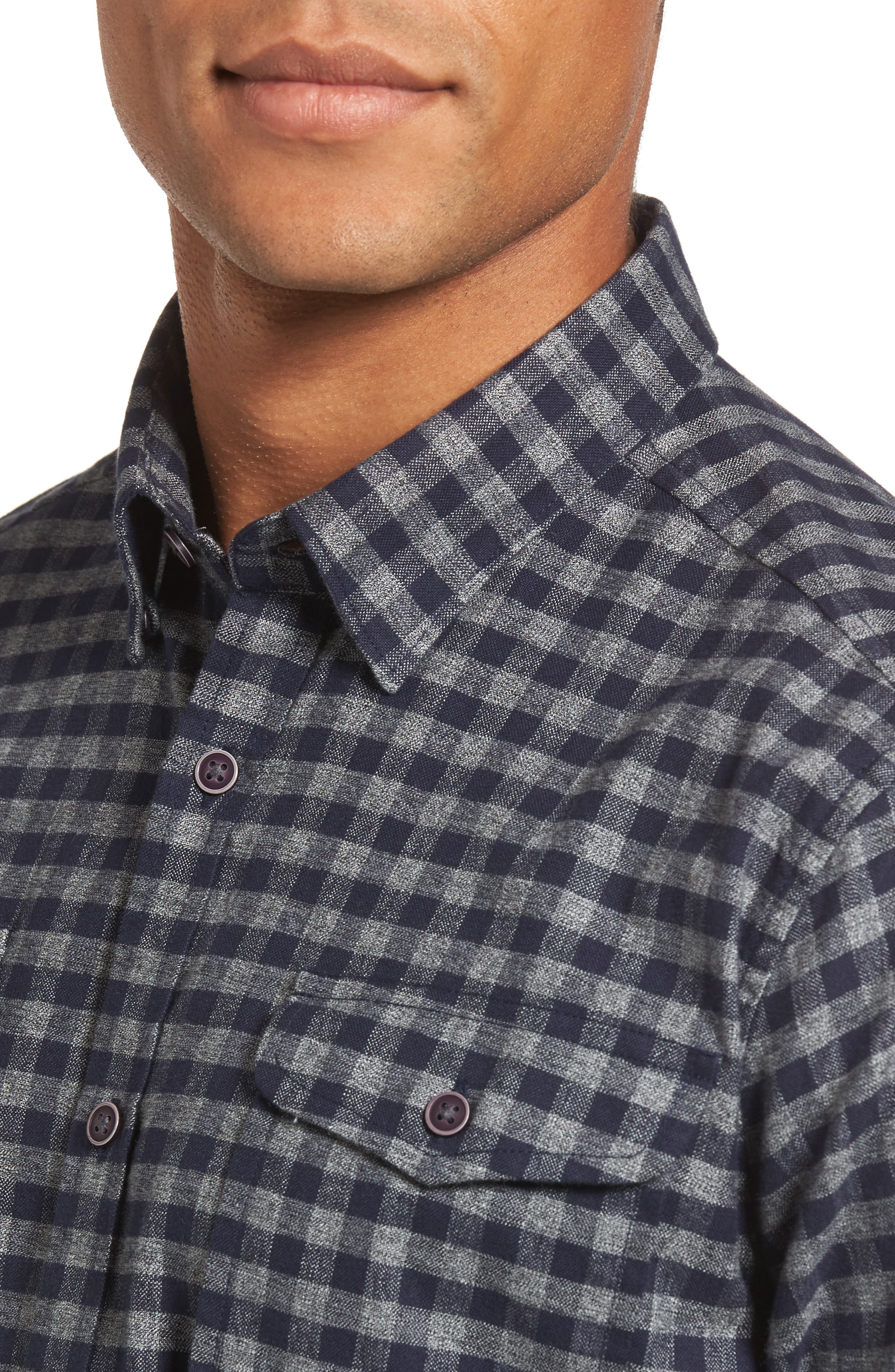 Alternate Image 4  - Barbour Ratchet Regular Fit Check Sport Shirt