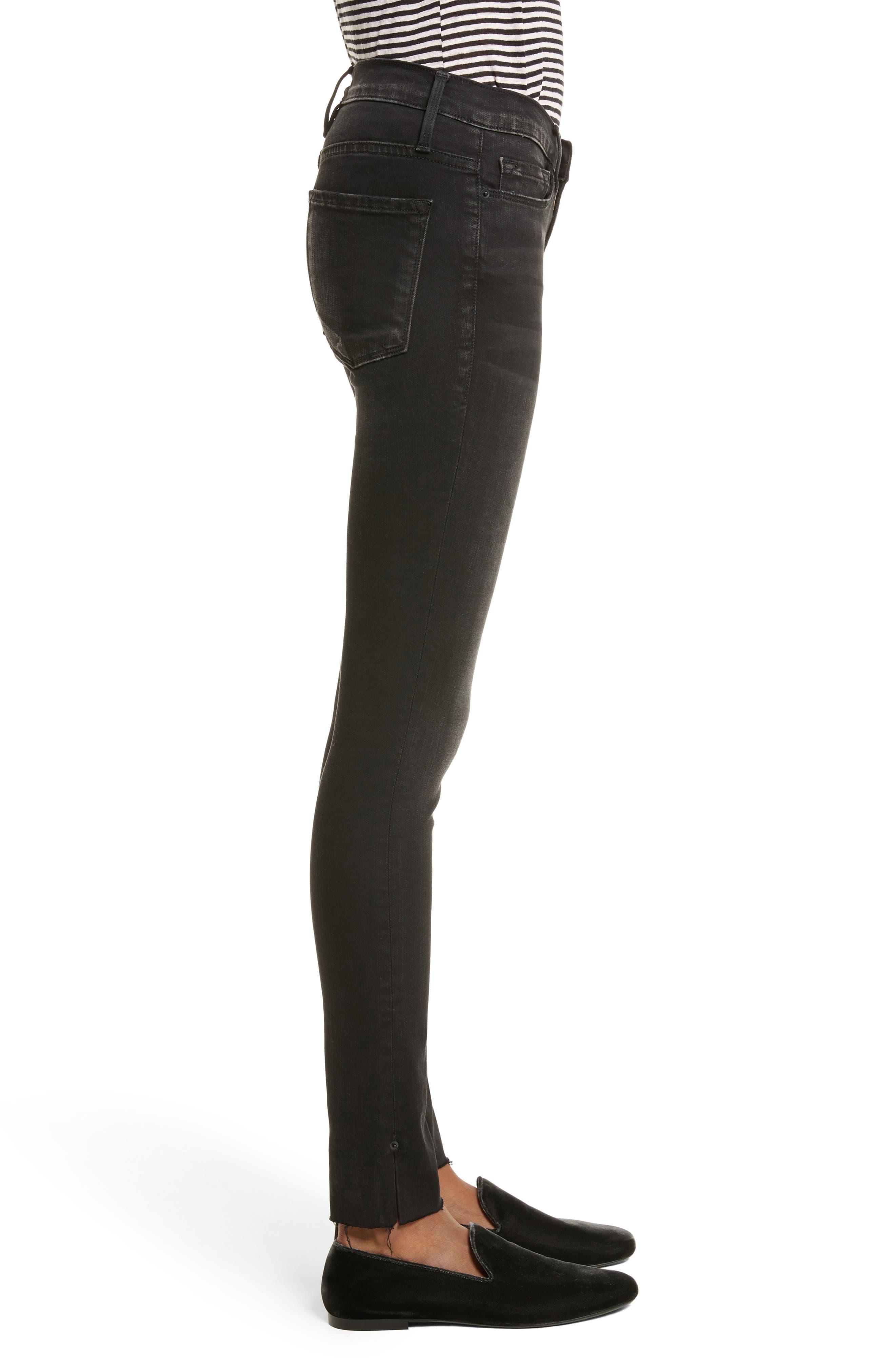 Le Skinny de Jeanne Raw Edge Skinny Jeans,                             Alternate thumbnail 3, color,                             Oxshott