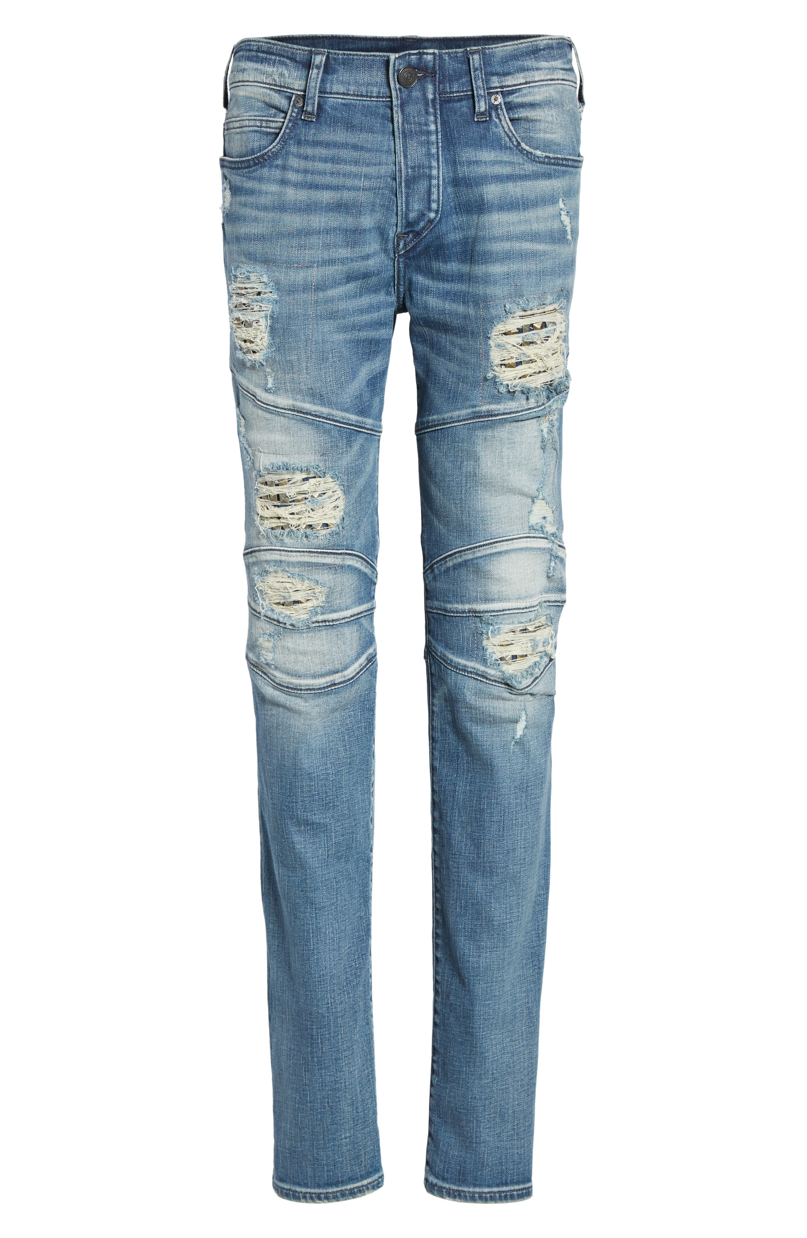 Rocco Skinny Fit Jeans,                             Alternate thumbnail 6, color,                             Indigo Clutch