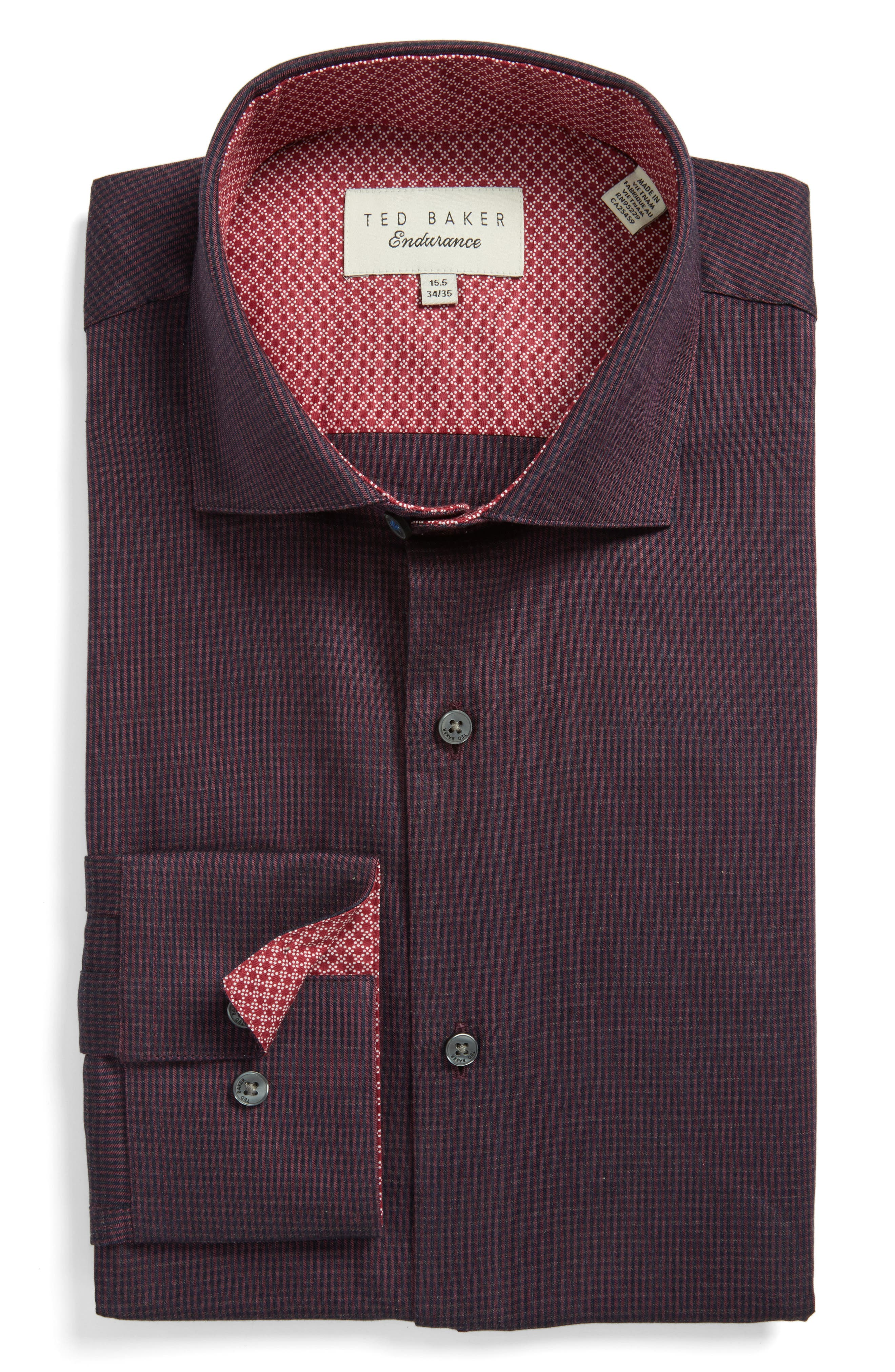 Main Image - Ted Baker London Endurance Trim Fit Pattern Dress Shirt