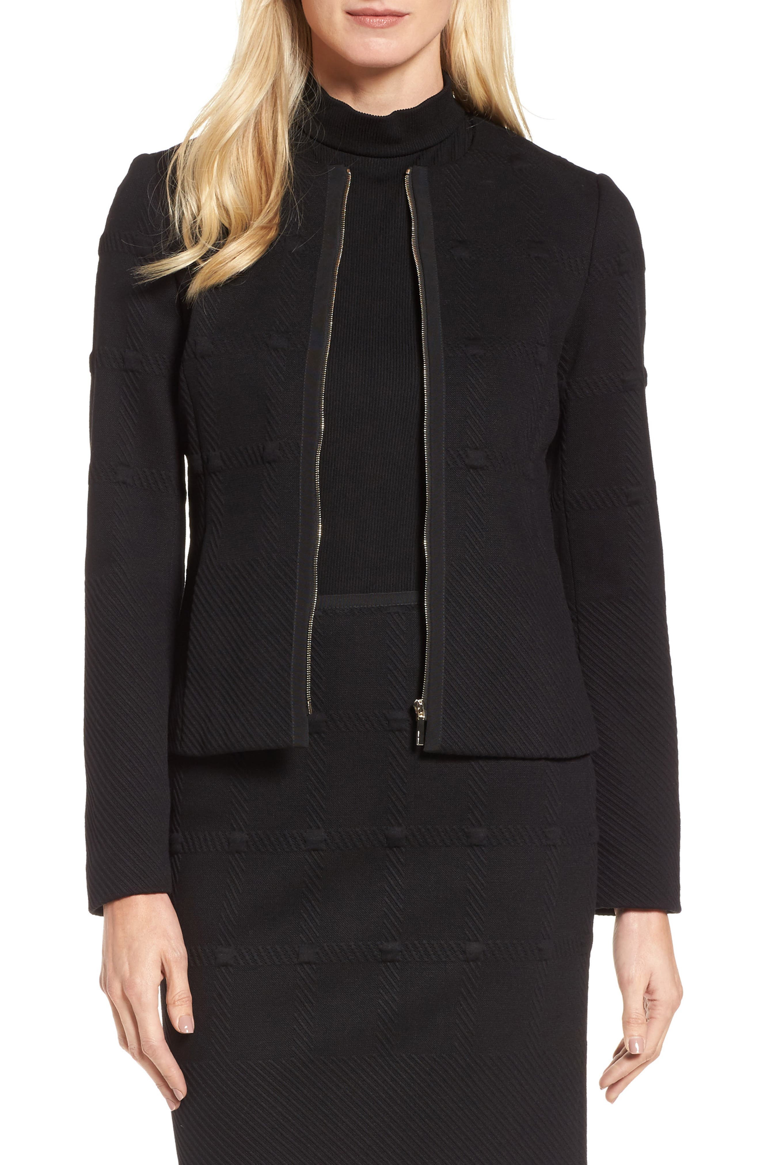 Kanelli Jacquard Jacket,                         Main,                         color, Black