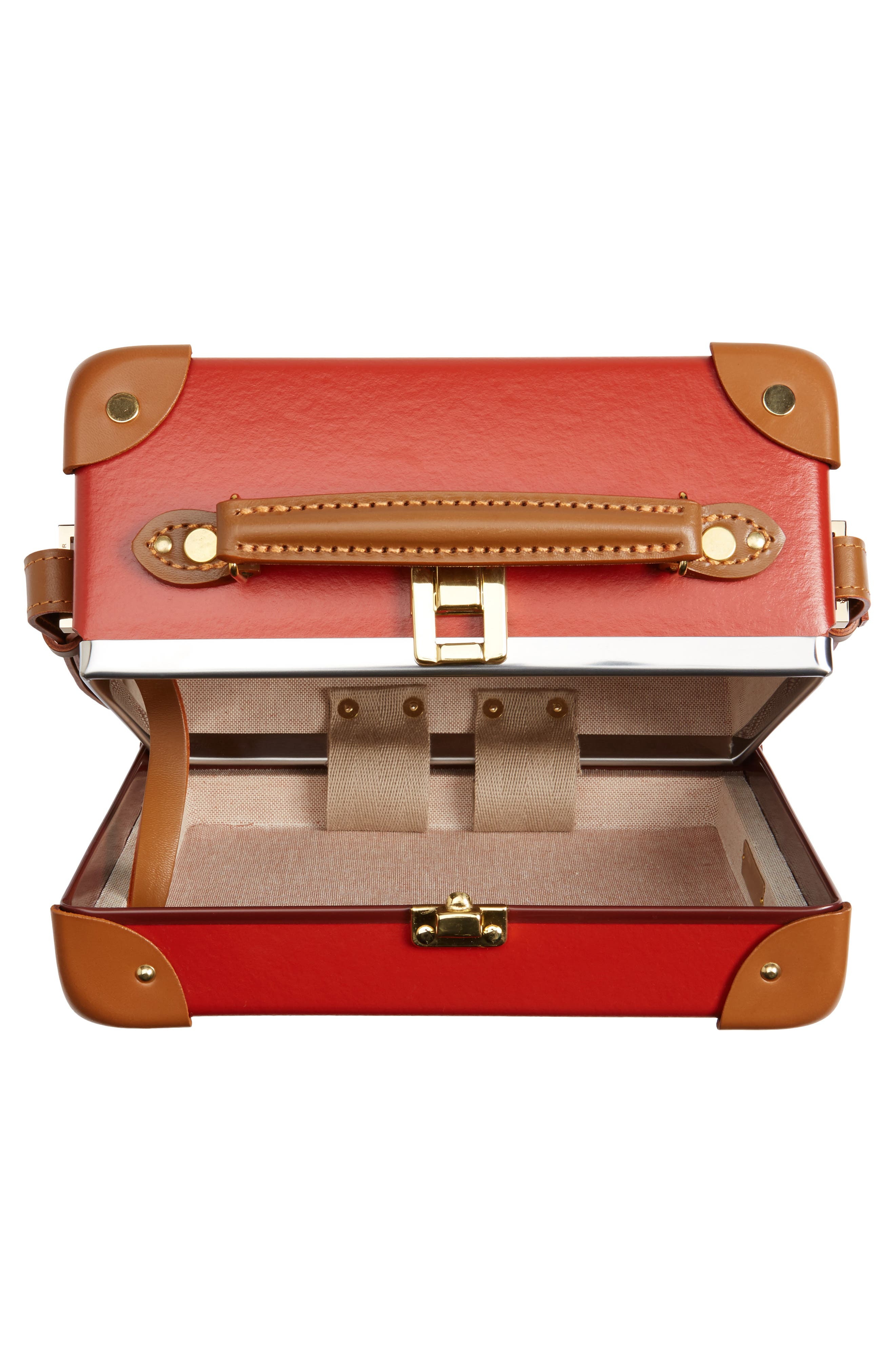 Safari 9-Inch Mini Utility Hardshell Travel Case,                             Alternate thumbnail 2, color,                             Red/Caramel