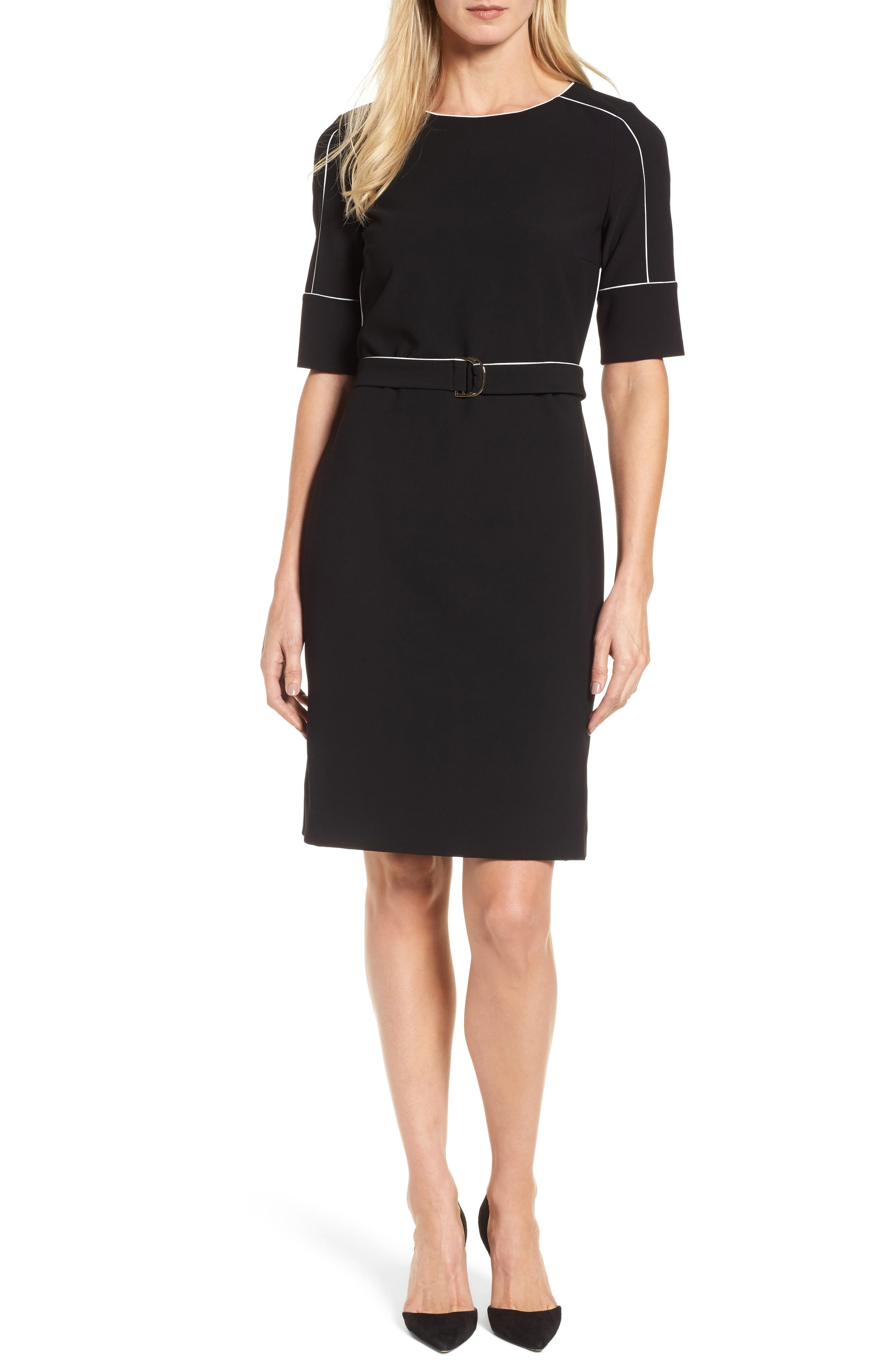 Duwimea Seamed Pencil Dress,                         Main,                         color, Black