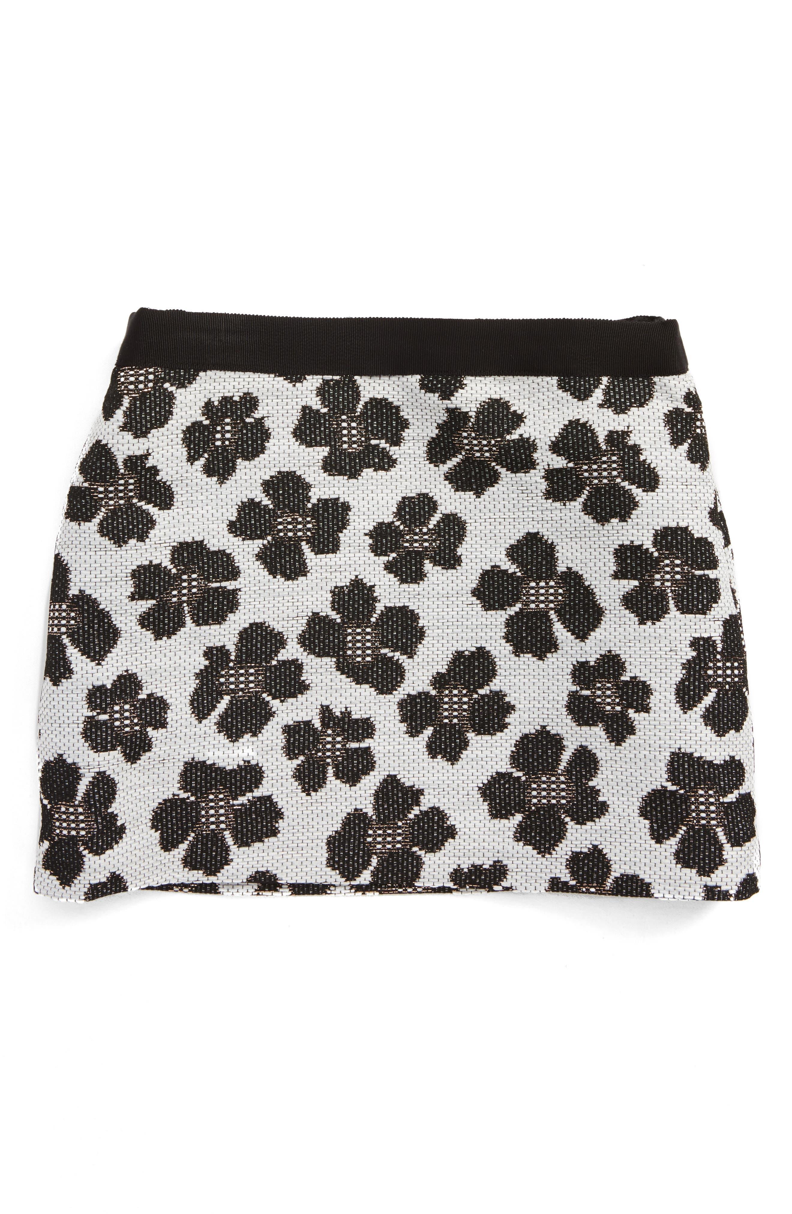 MILLY Minis Metallic Jacquard Miniskirt