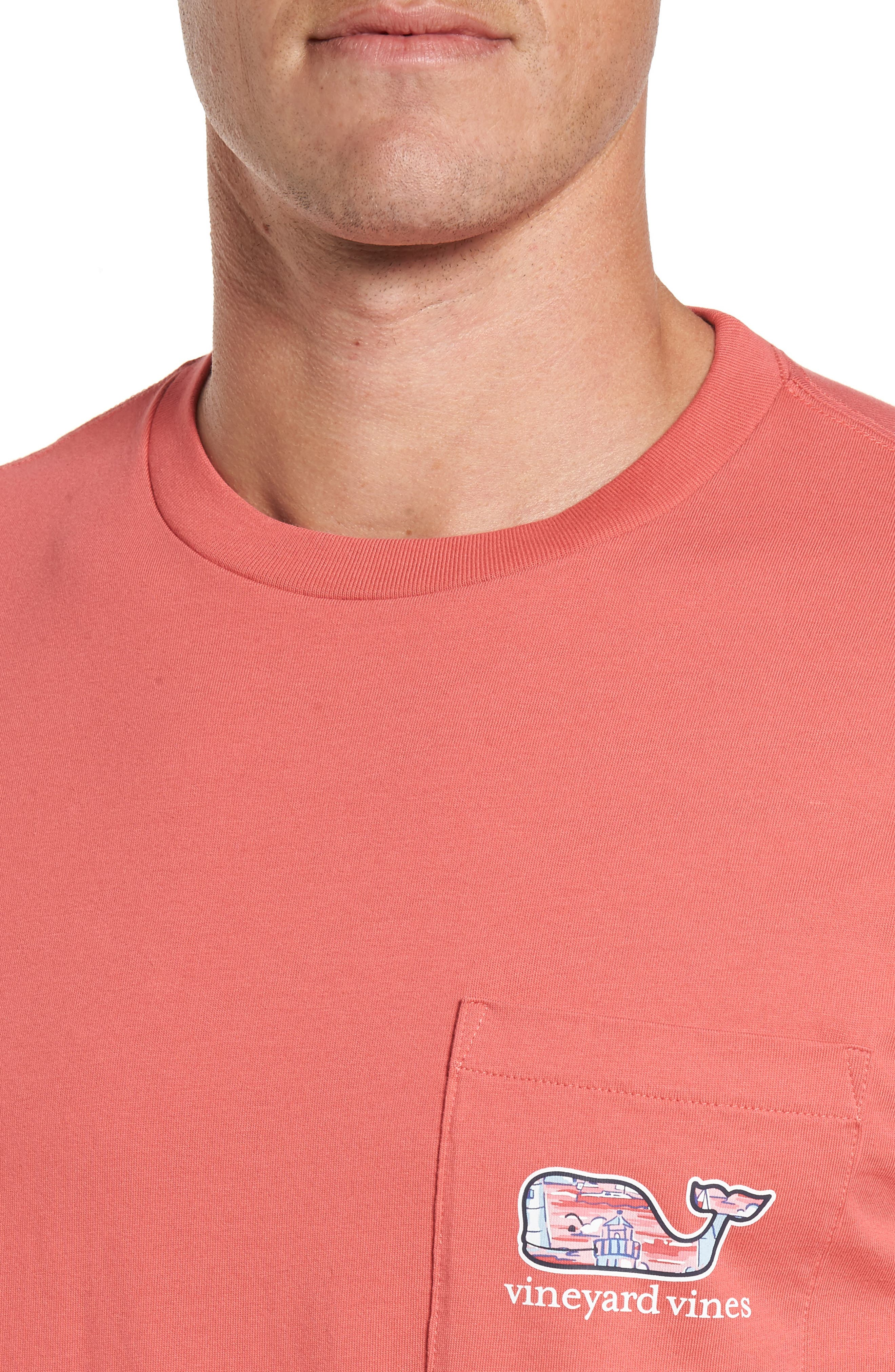 Alternate Image 4  - vineyard vines Lighthouse Whale Pocket T-Shirt