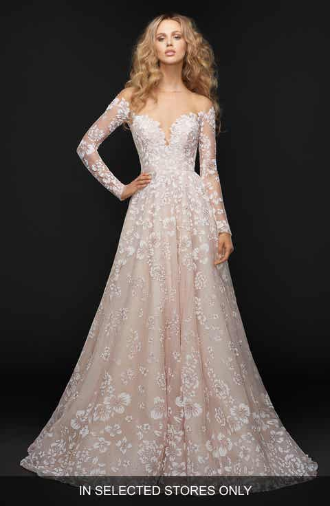 Hayley Paige Stevie Illusion Off the Shoulder Gown  In Selected Stores Only Wedding Dresses   Nordstrom   Nordstrom. Off The Rack Wedding Dresses Nyc. Home Design Ideas