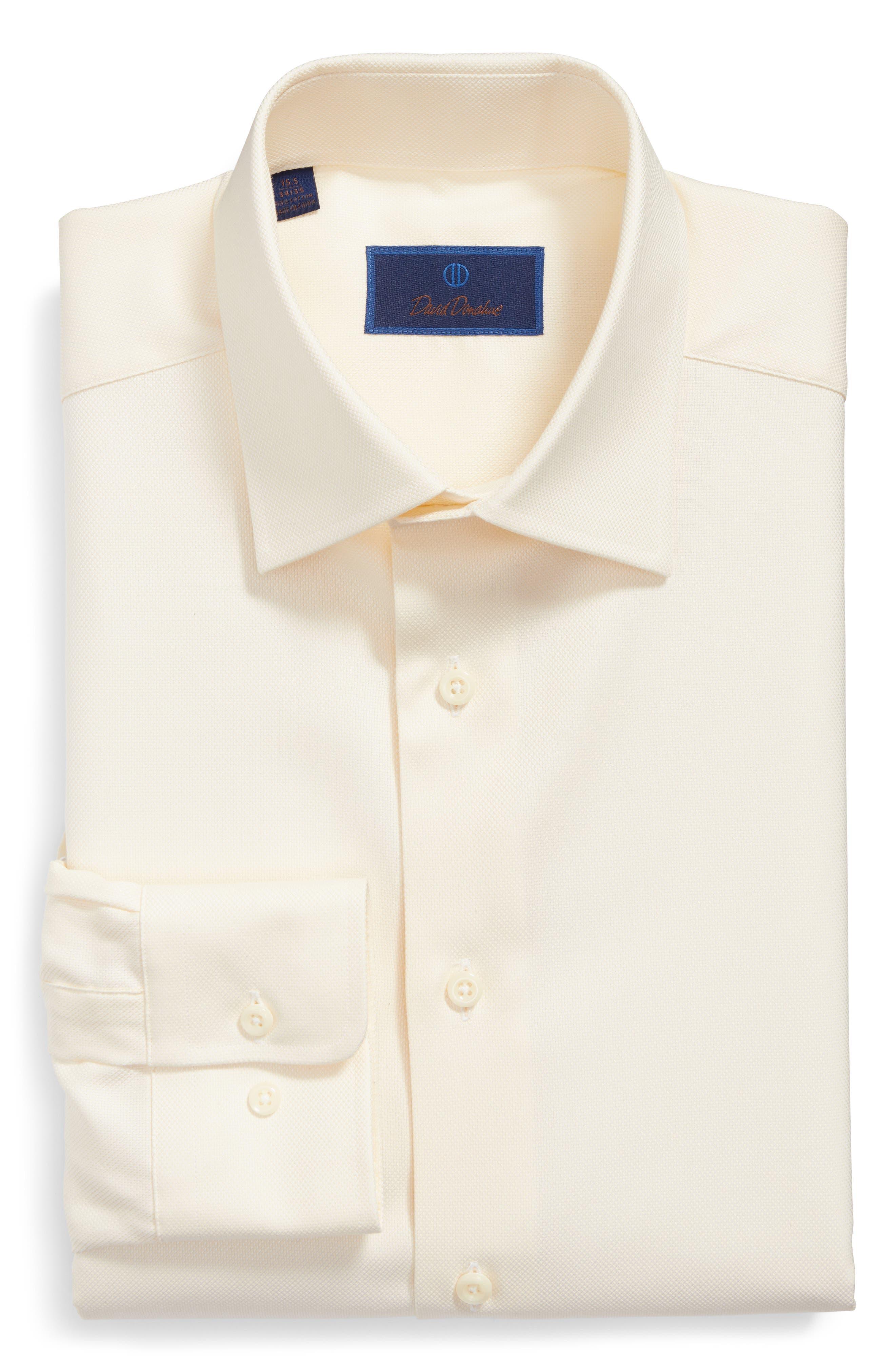 Alternate Image 1 Selected - David Donahue Regular Fit Oxford Dress Shirt