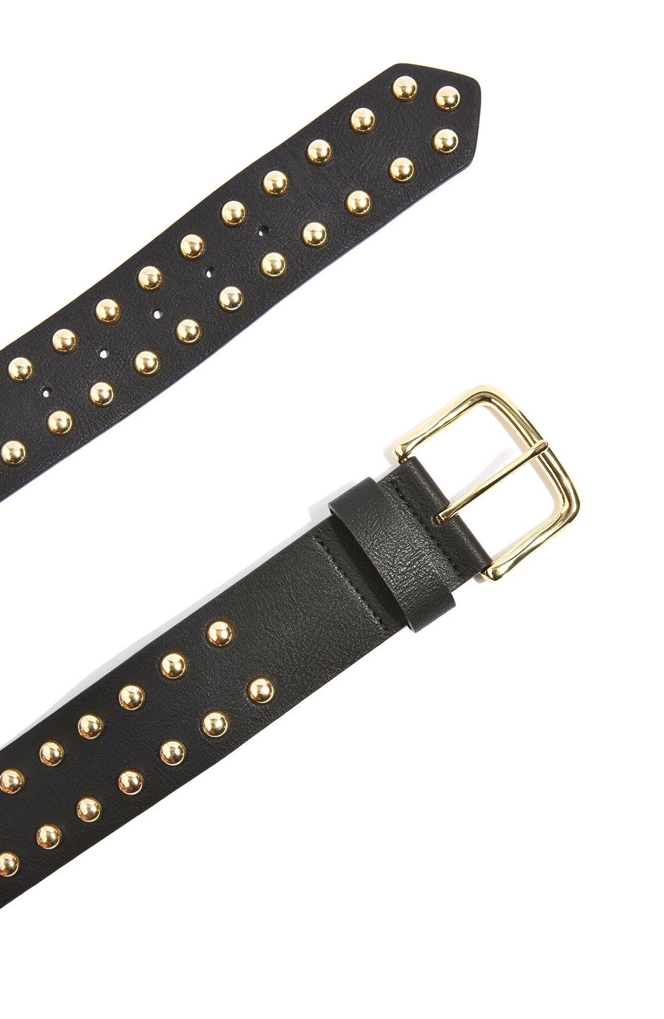 Topshop Studded Faux Leather Belt