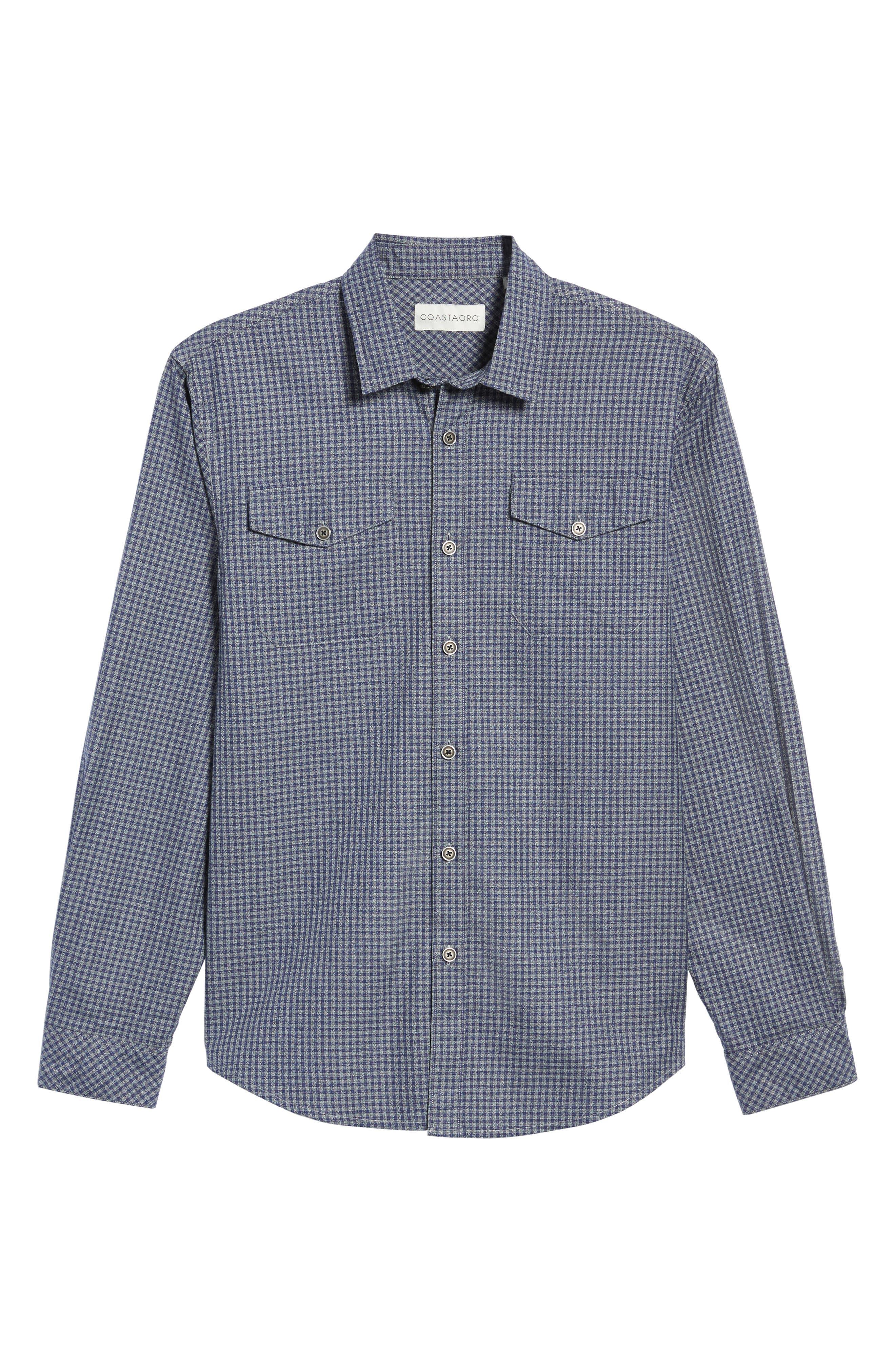 Alternate Image 6  - Coastaoro Main Street Check Flannel Shirt