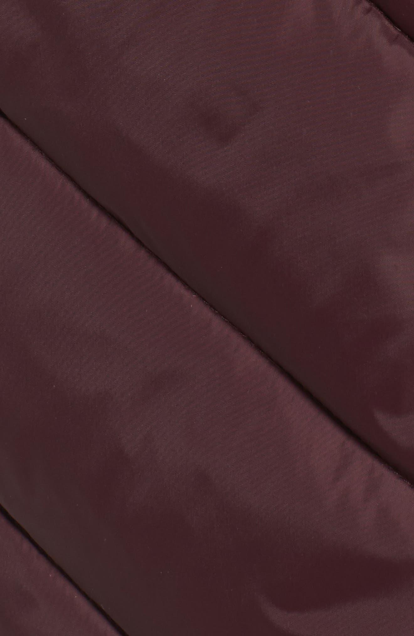 Alternate Image 5  - Larry Levine Faux Fur Trim Hooded Jacket