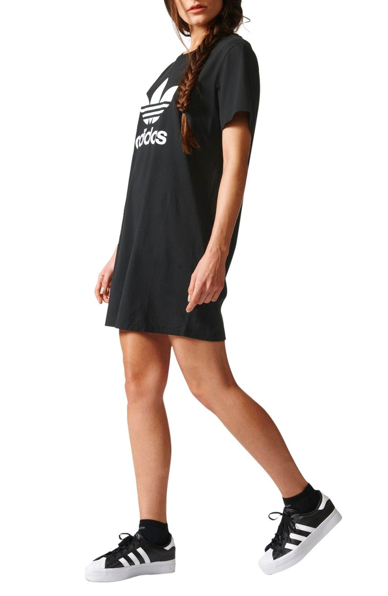 Alternate Image 3  - adidas Trefoil Logo T-Shirt Dress