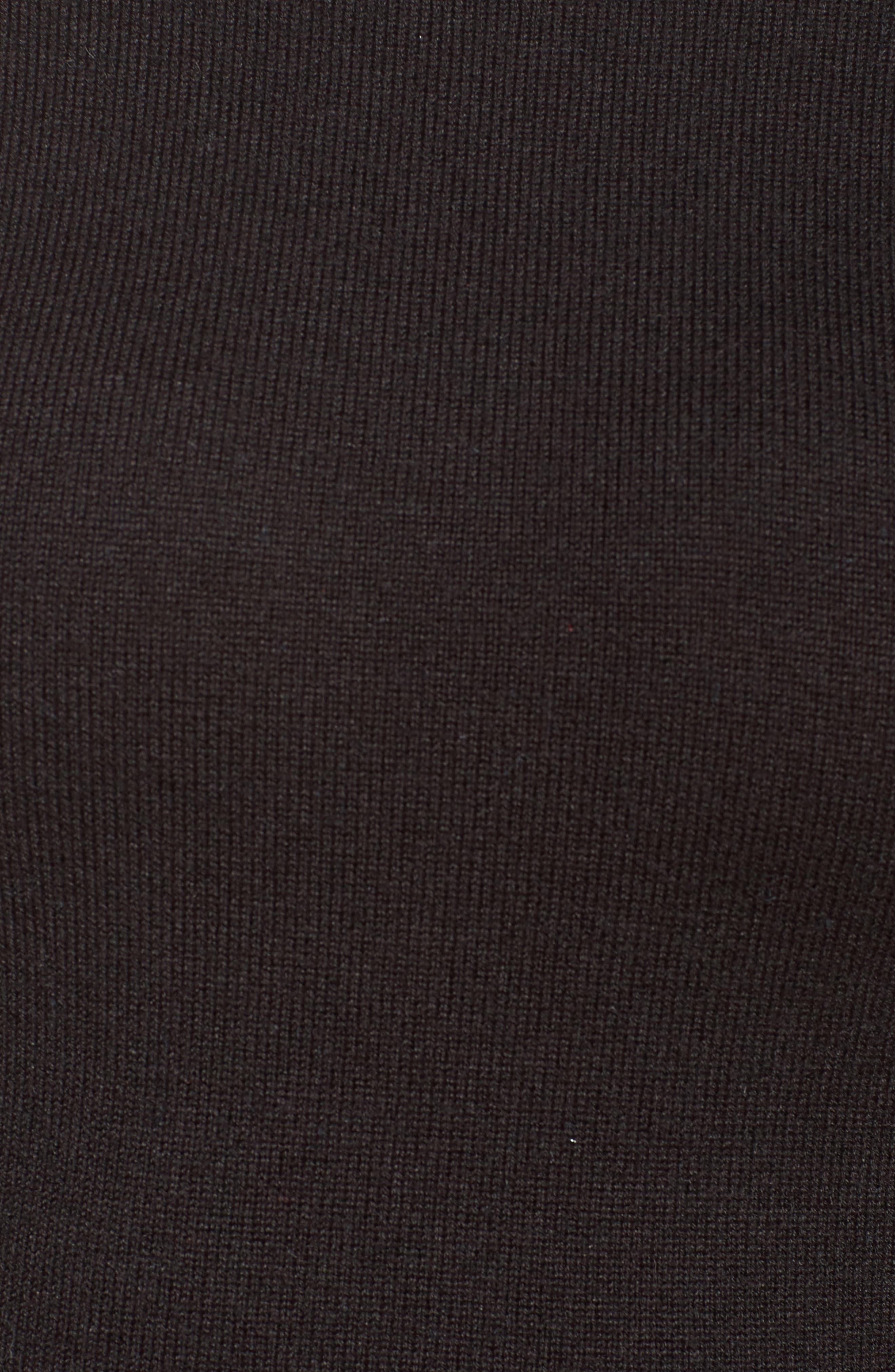 Alternate Image 5  - Eliza J Lace Shoulder Turtleneck Sweater Dress