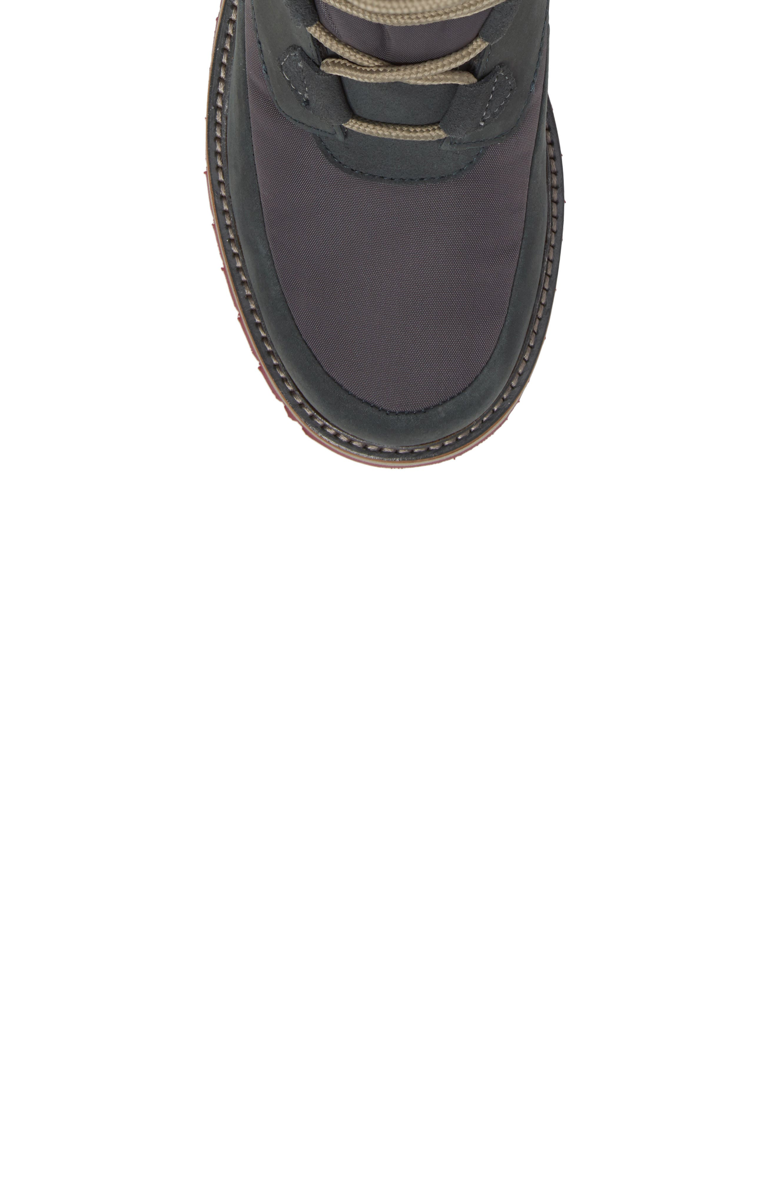 Arosa Waterproof Boot with Faux Fur Trim,                             Alternate thumbnail 5, color,                             Darkest Spruce / Rock / La