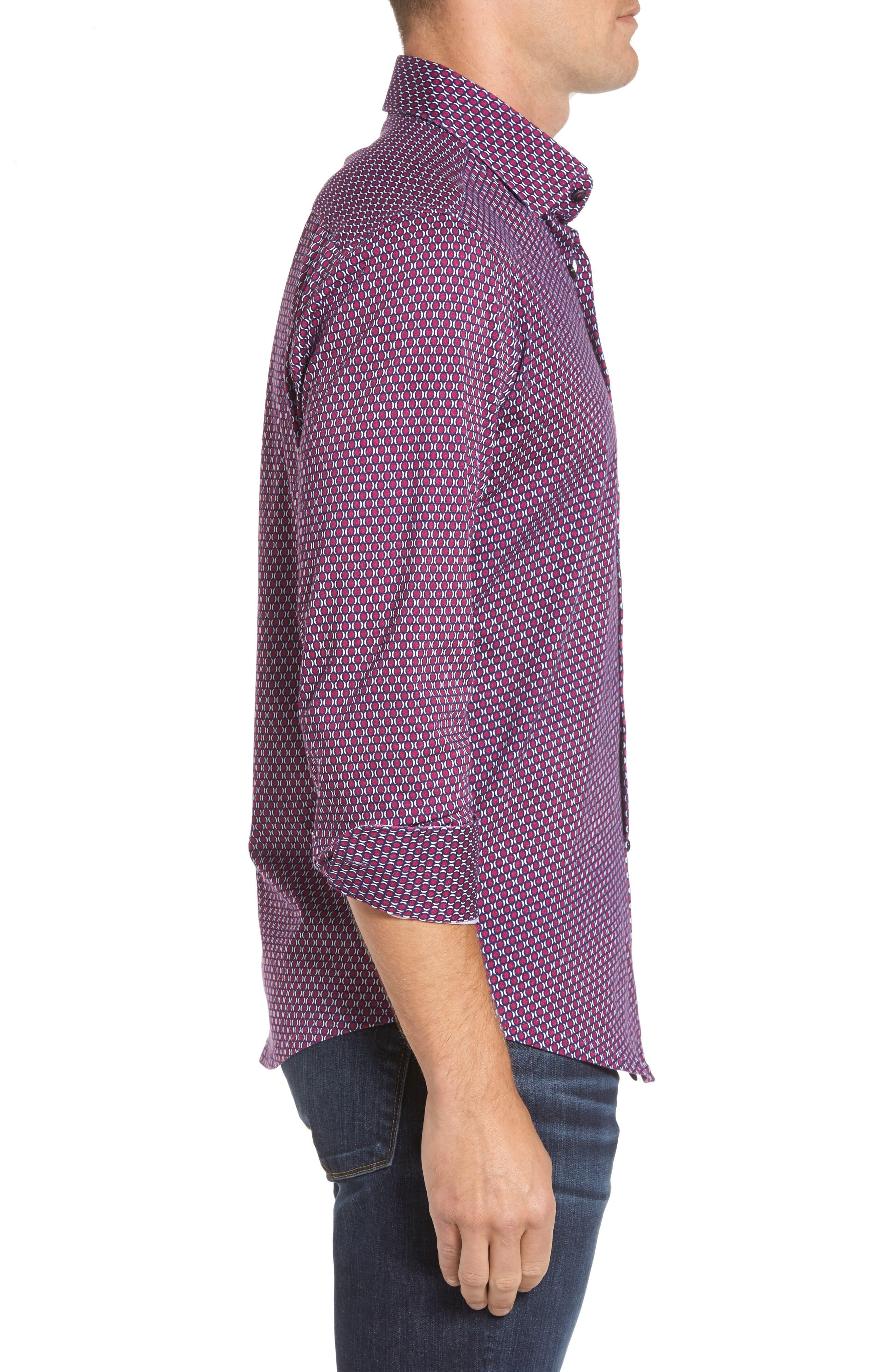 Alternate Image 3  - Stone Rose Slim Fit Geo Knit Sport Shirt