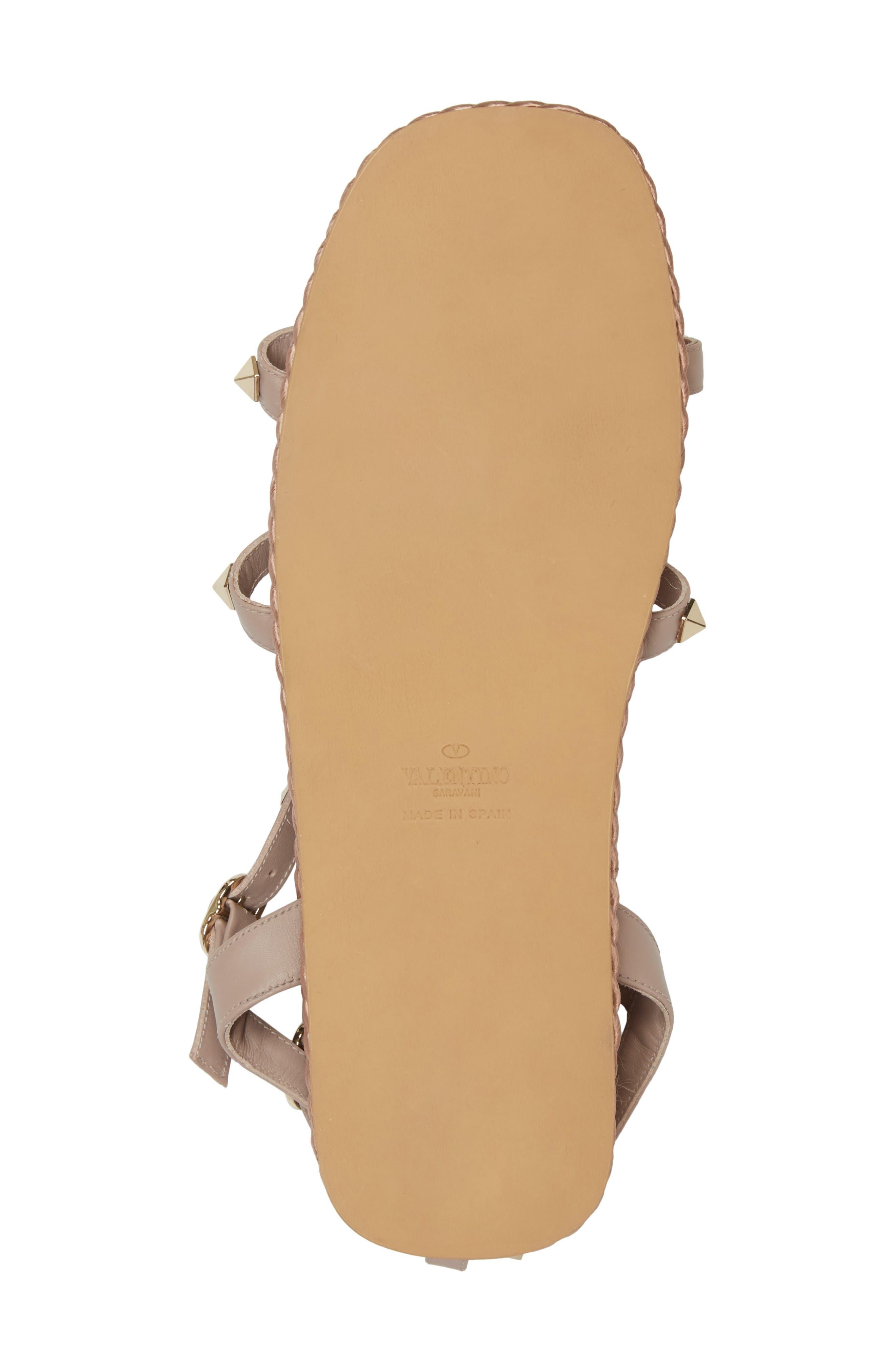 Torchon Strappy Sandal,                             Alternate thumbnail 6, color,                             Beige
