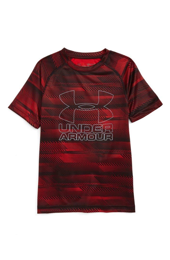 Under Armour Big Logo Print T Shirt Little Boys Big