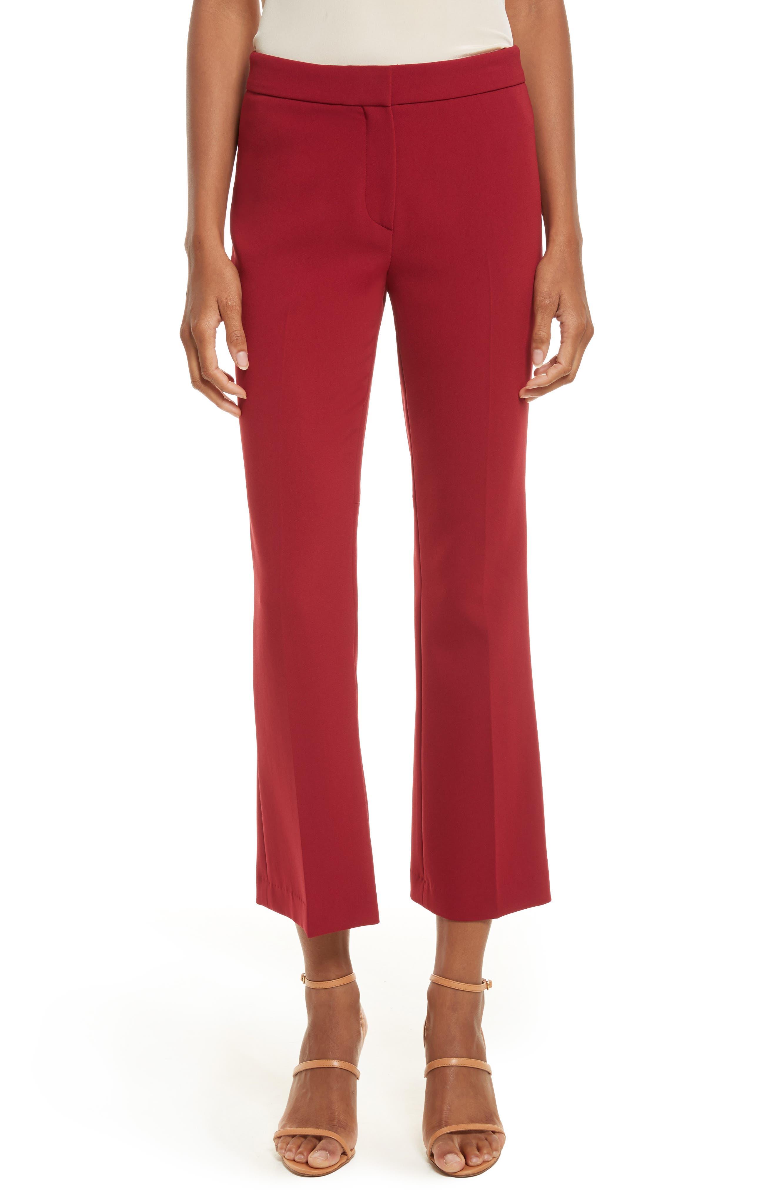 Admiral Crepe Kick Crop Pants,                         Main,                         color, Bright Raspberry