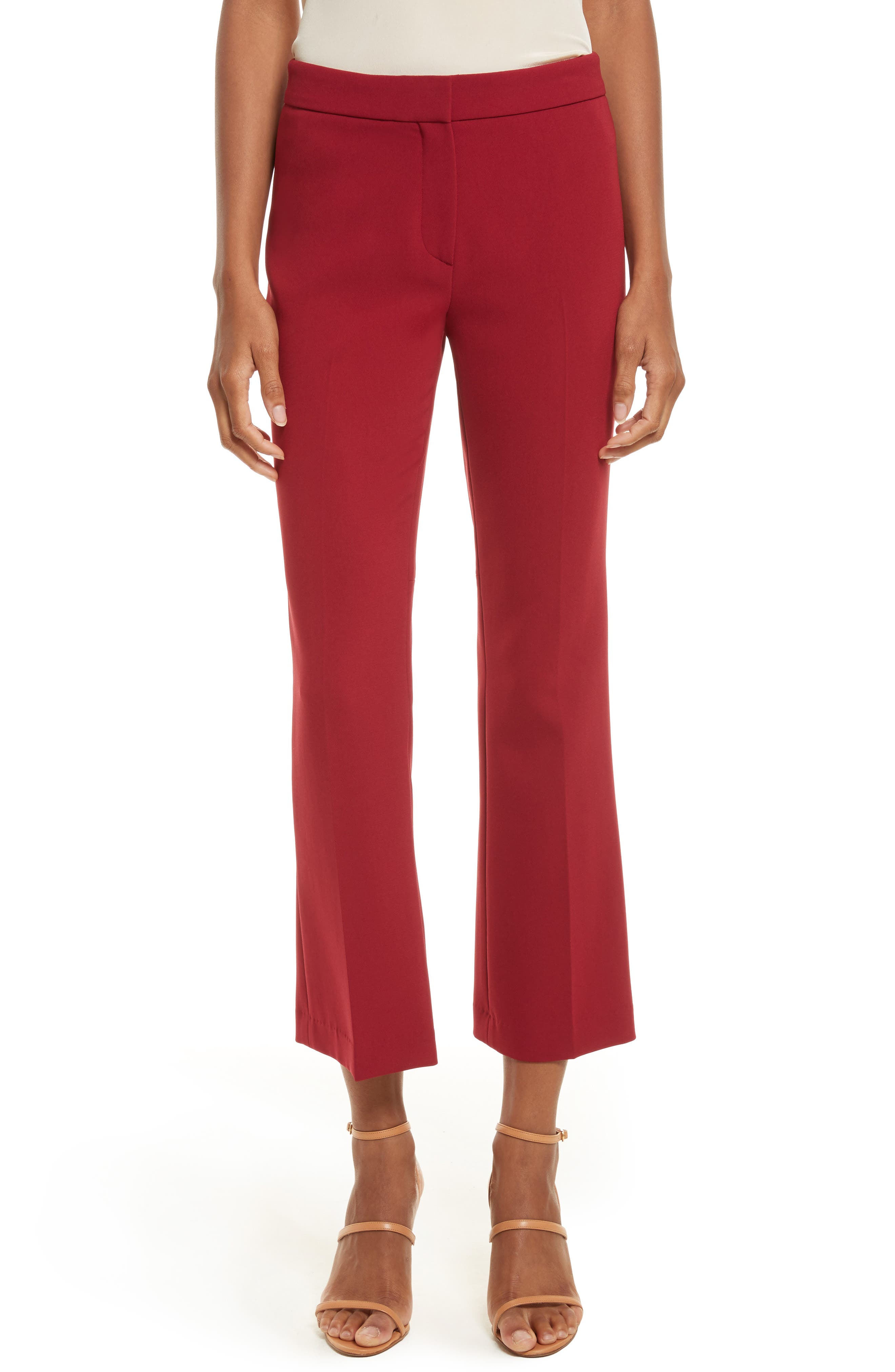 Admiral Crepe Kick Crop Pants,                         Main,                         color, Bright Raspberry