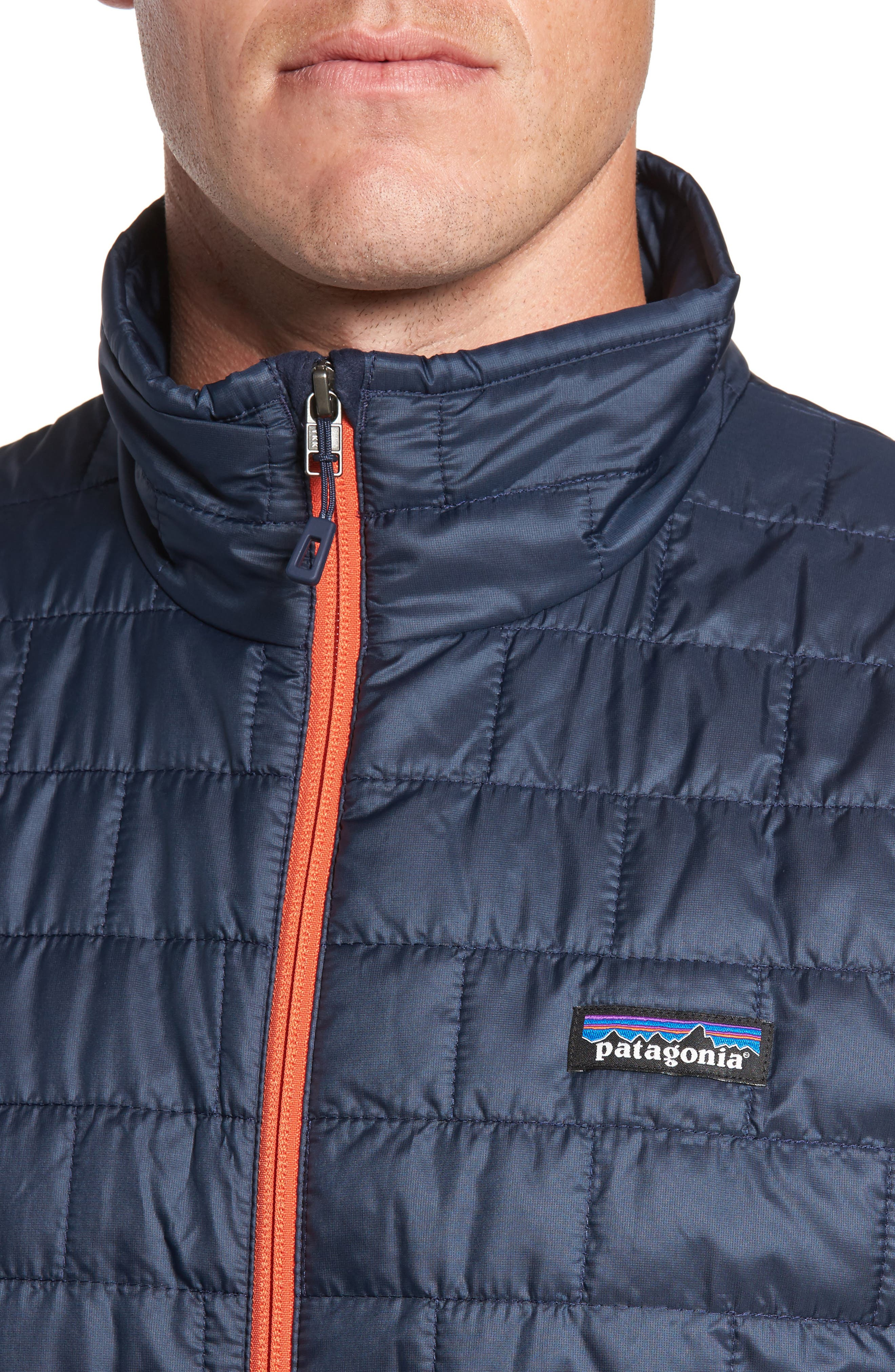 Nano Puff<sup>®</sup> Vest,                             Alternate thumbnail 4, color,                             Navy Blue W/ Paintbrush Red