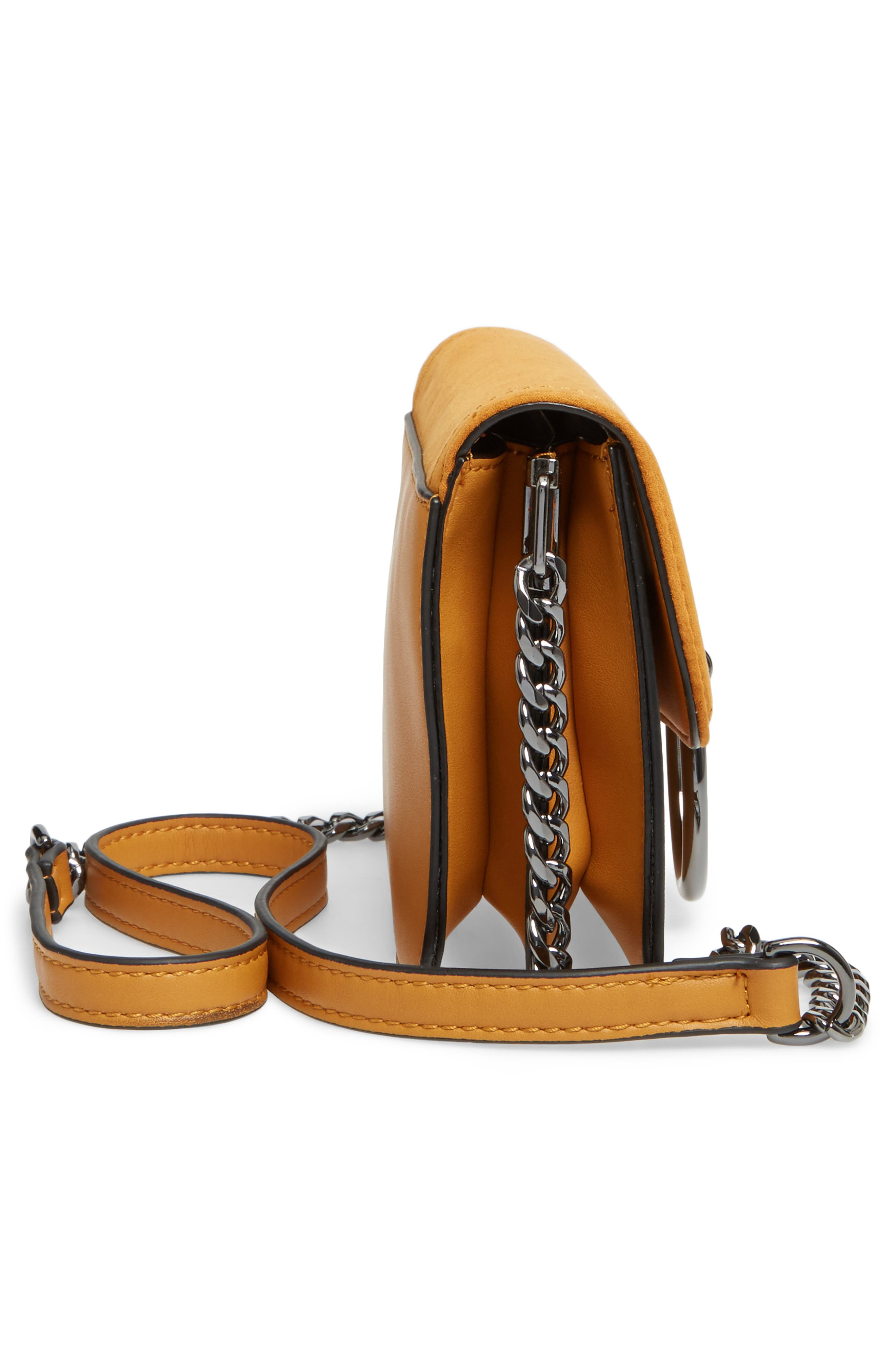 Alternate Image 7  - Topshop Remy Trophy Faux Leather Crossbody Bag