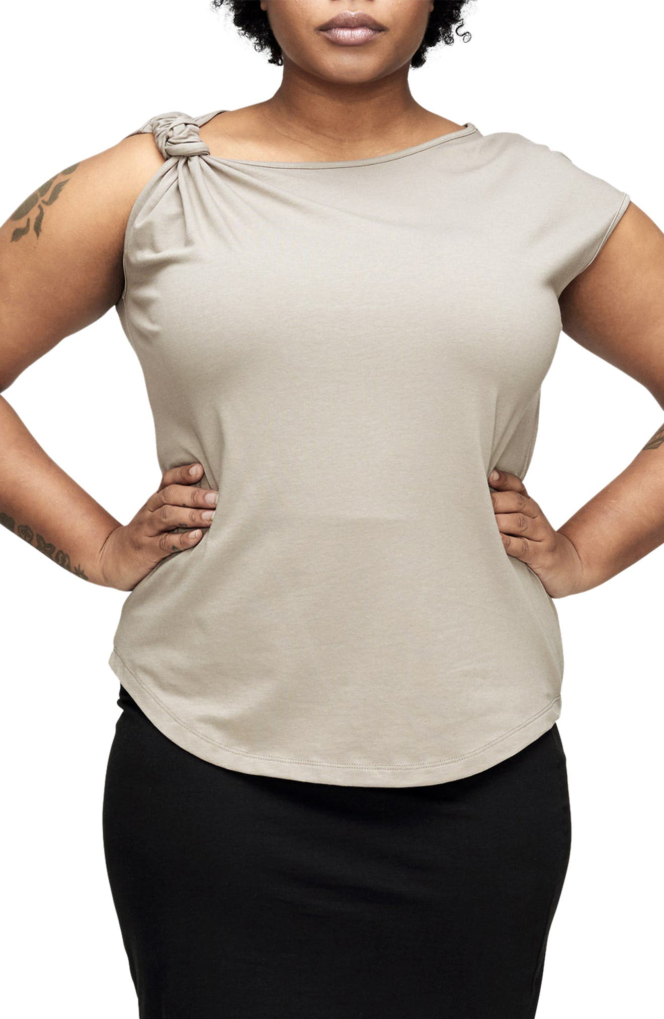 UNIVERSAL STANDARD Knot Jersey Top (Plus Size)