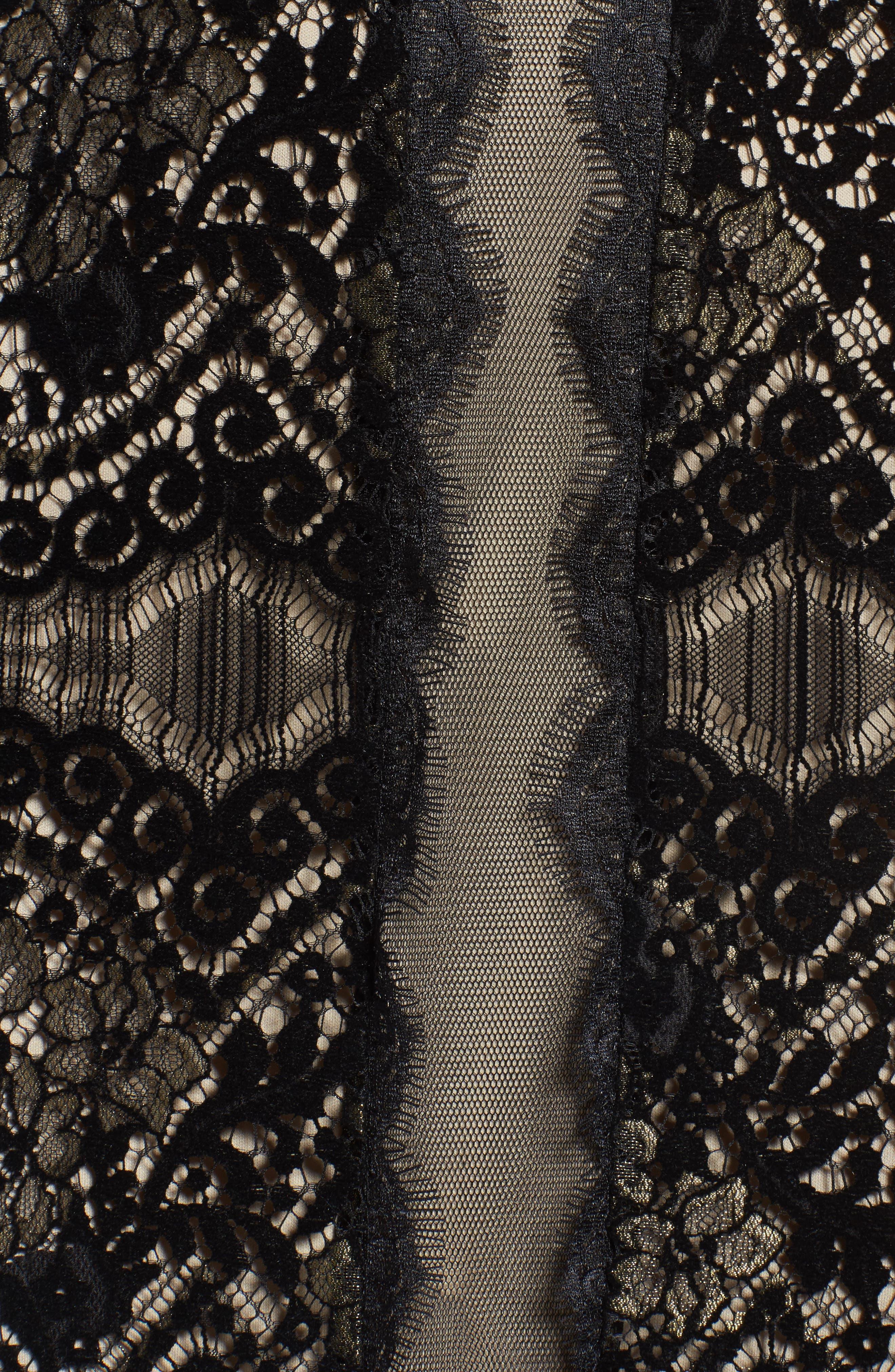 Alternate Image 5  - Adrianna Papell Lace Sheath Dress (Regular & Petite)
