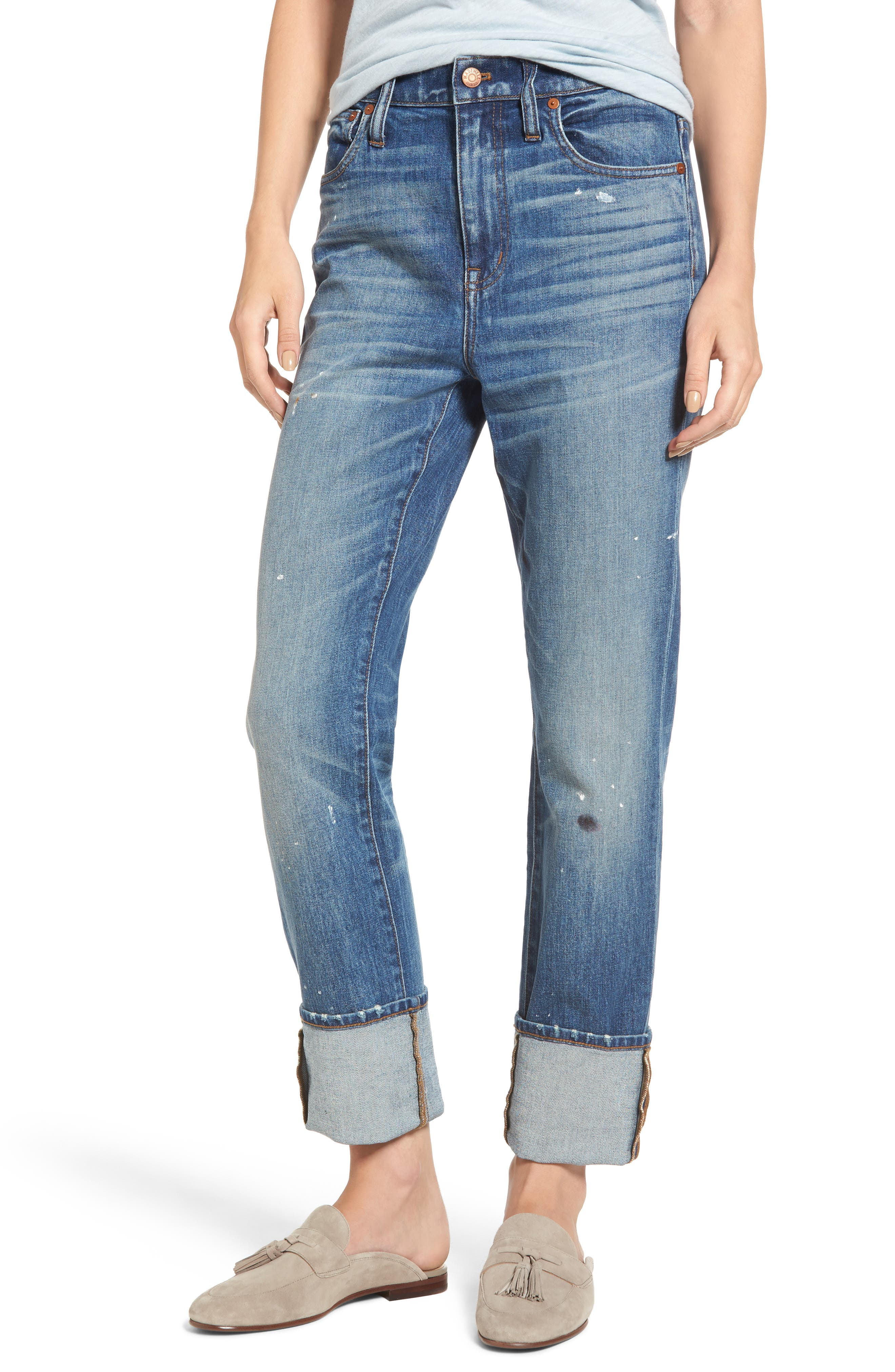 Madewell 11-Inch The High-Rise Slim Boyjean: Painter Edition (Boulder)