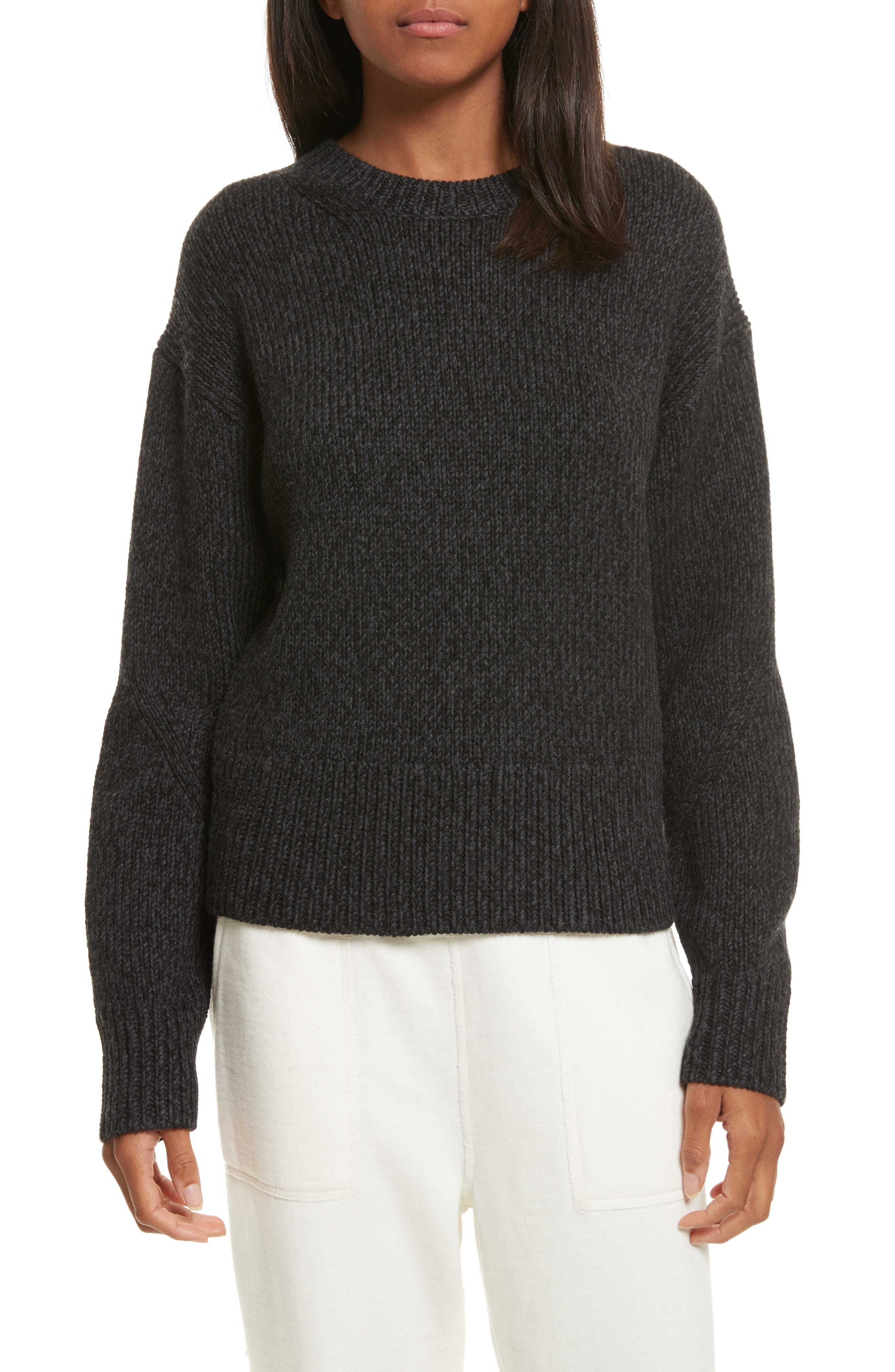 Sheila Crewneck Sweater,                         Main,                         color, Charcoal