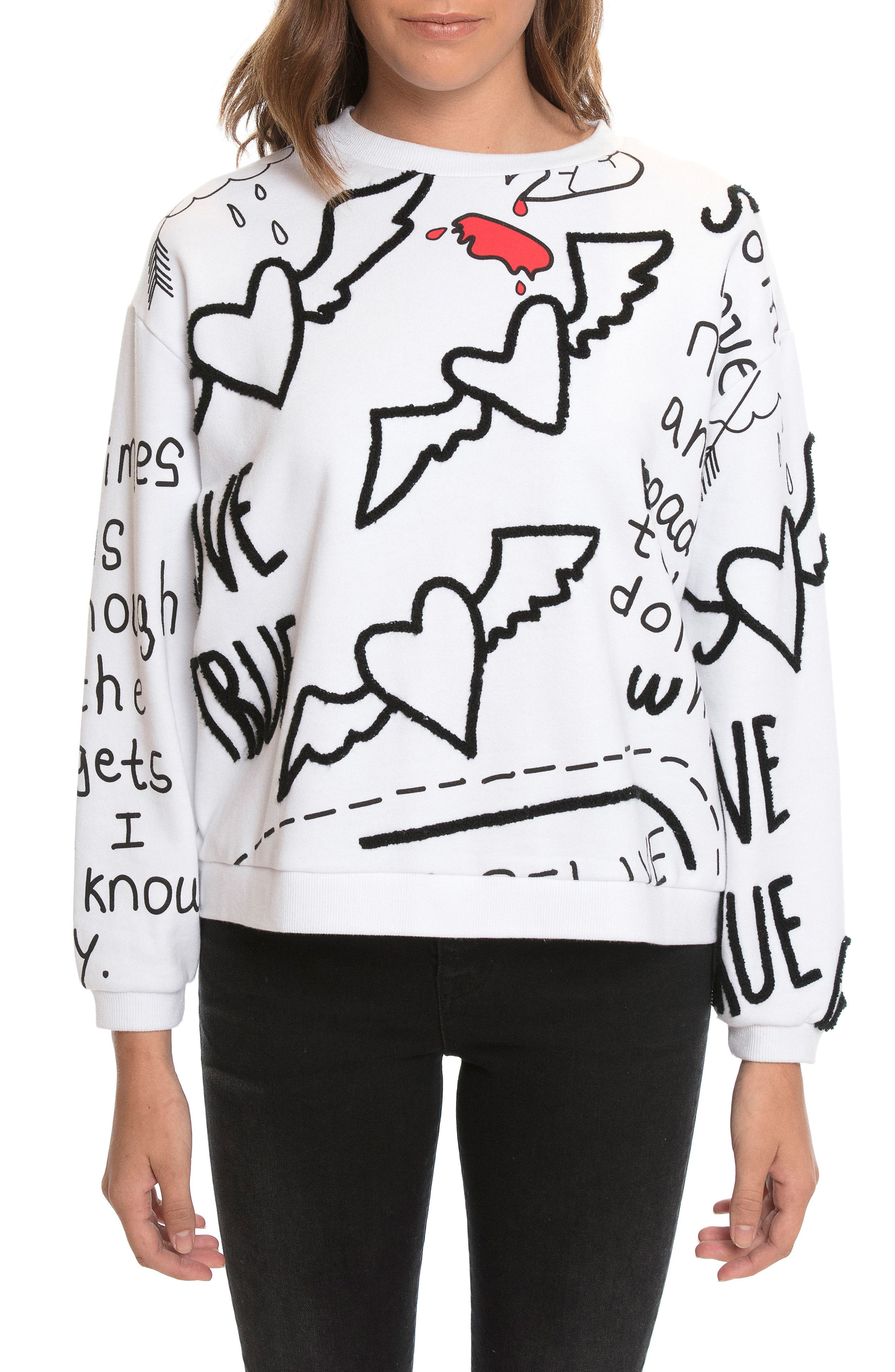 Alternate Image 6  - PRPS Love Note Sweatshirt