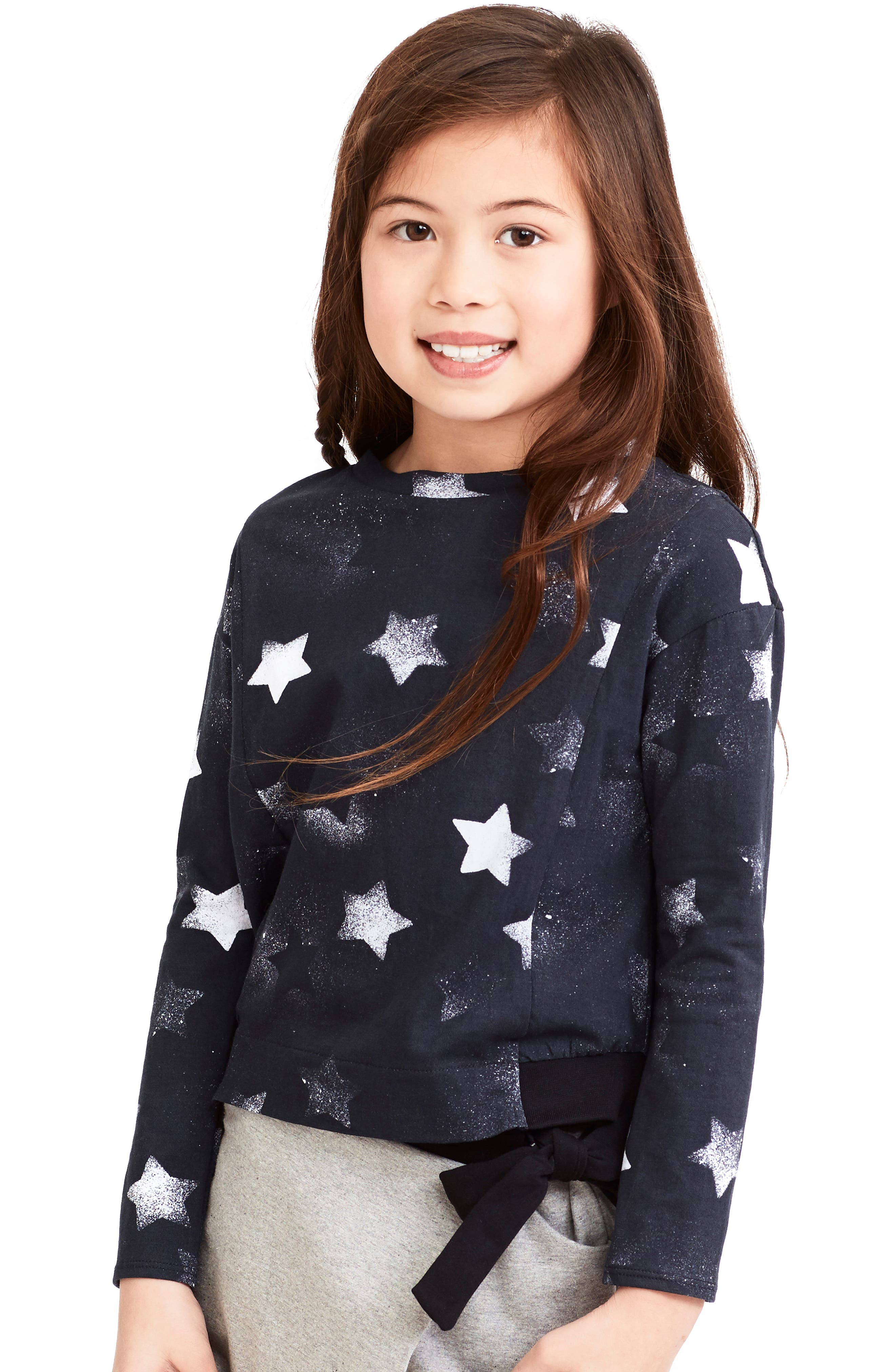 Alternate Image 2  - Art & Eden Eva Star Print Tee (Toddler Girls & Little Girls)