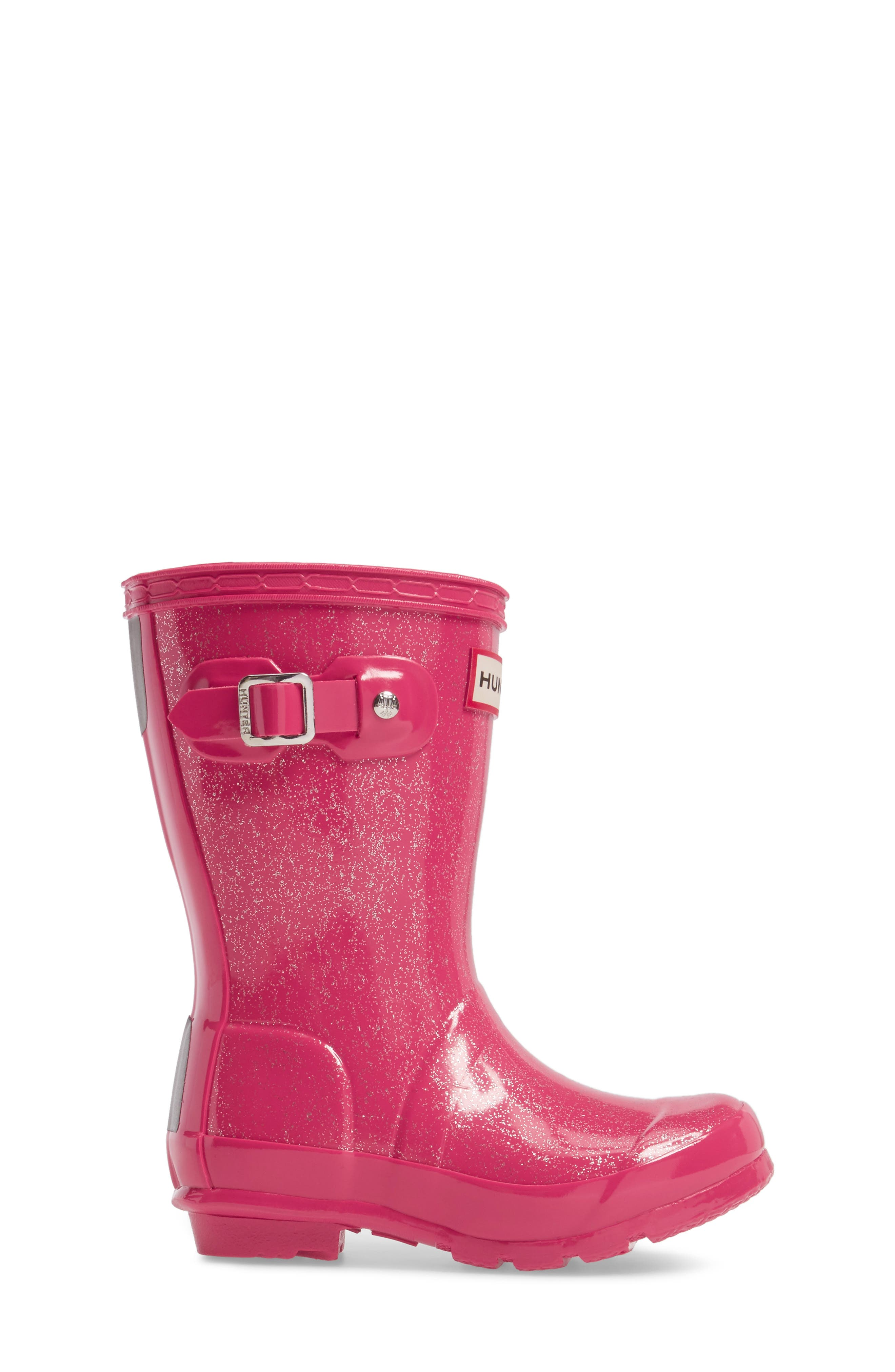 Alternate Image 3  - Hunter 'Original Glitter' Rain Boot (Toddler, Little Kid & Big Kid)