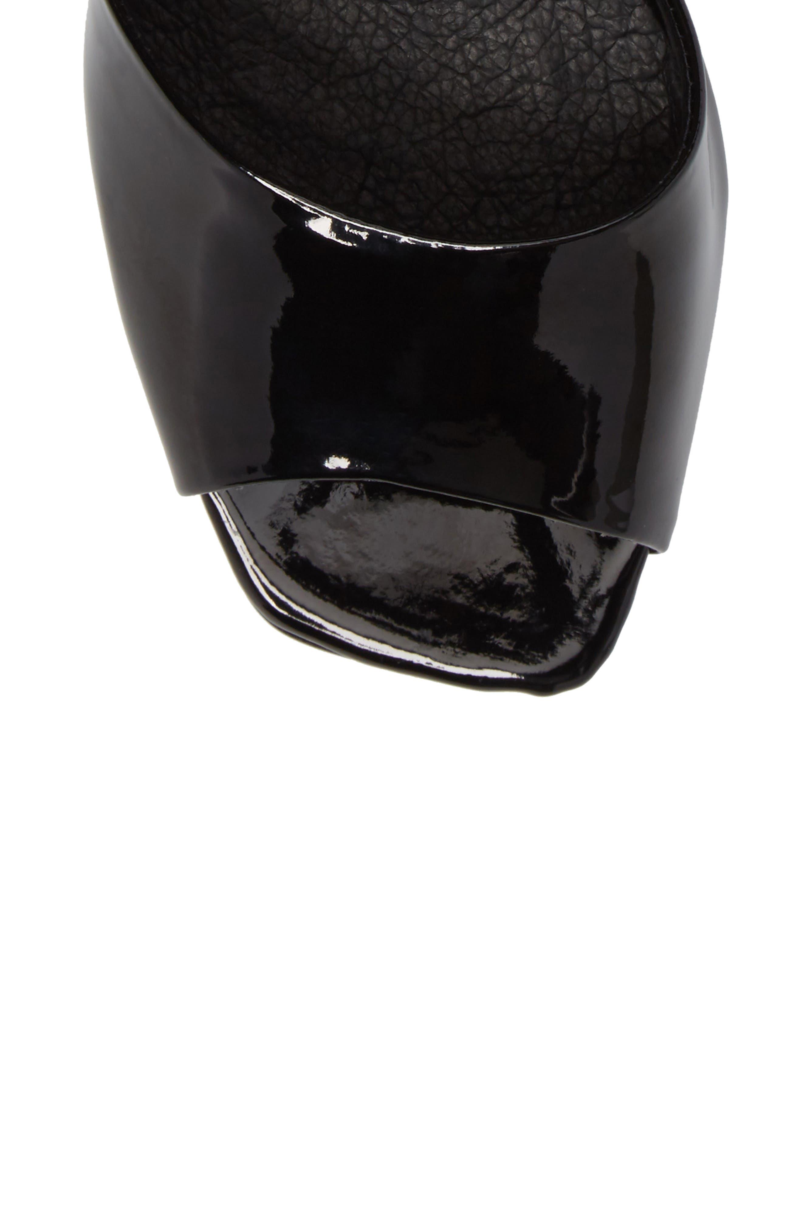 Roux Square Toe Sandal,                             Alternate thumbnail 5, color,                             Black