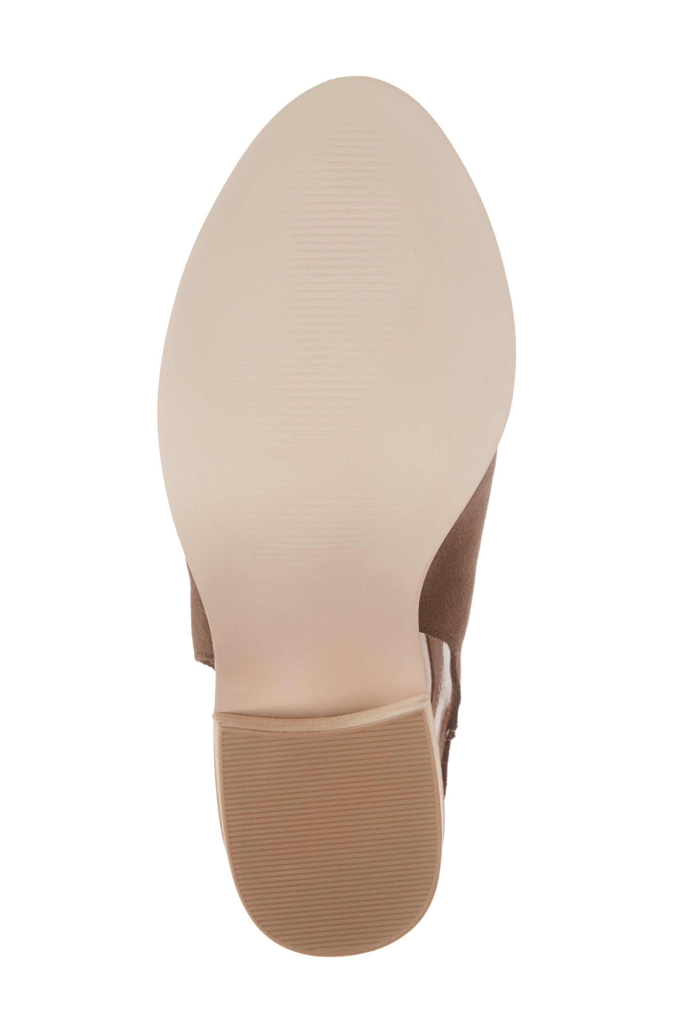 Peep Toe Sandal,                             Alternate thumbnail 6, color,                             Dark Taupe