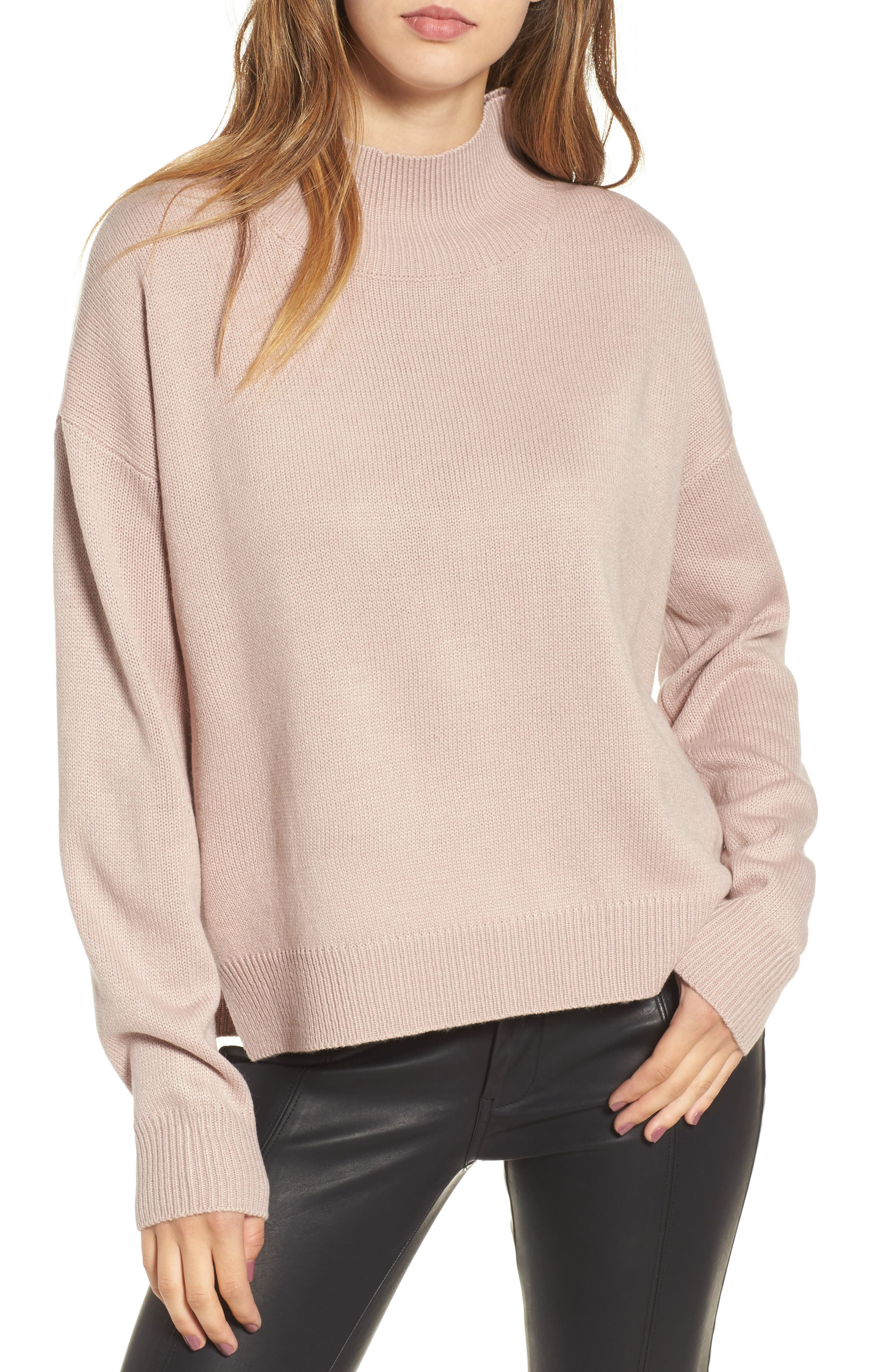 Oversize Sweater,                             Main thumbnail 1, color,                             Pink