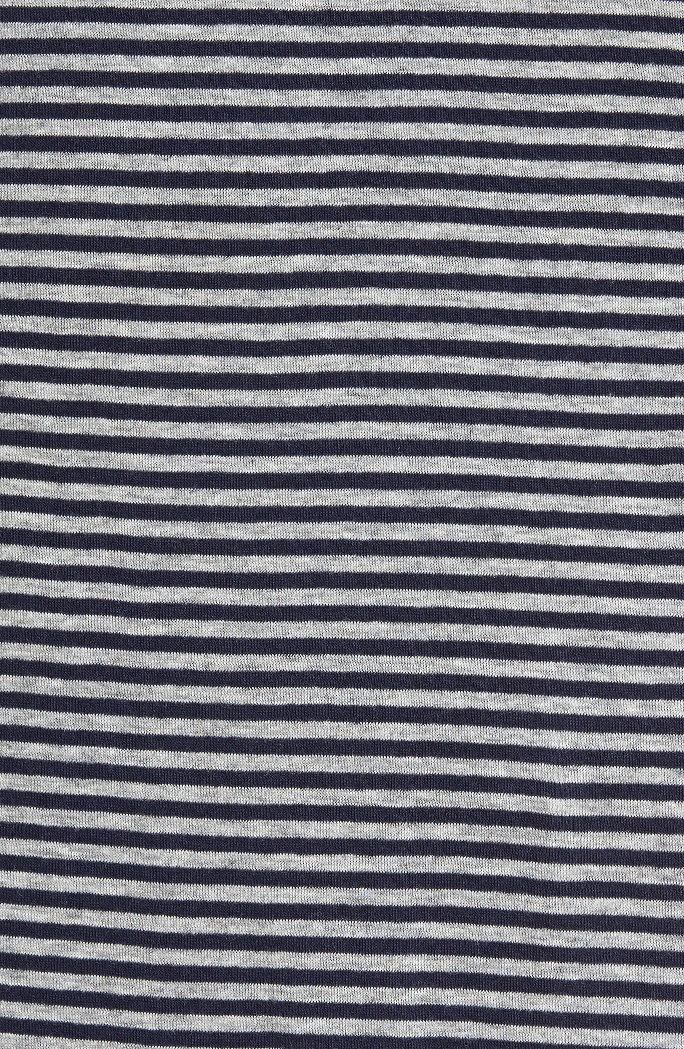 Striped Pocket T-Shirt,                             Alternate thumbnail 5, color,                             Navy/ White Stripe